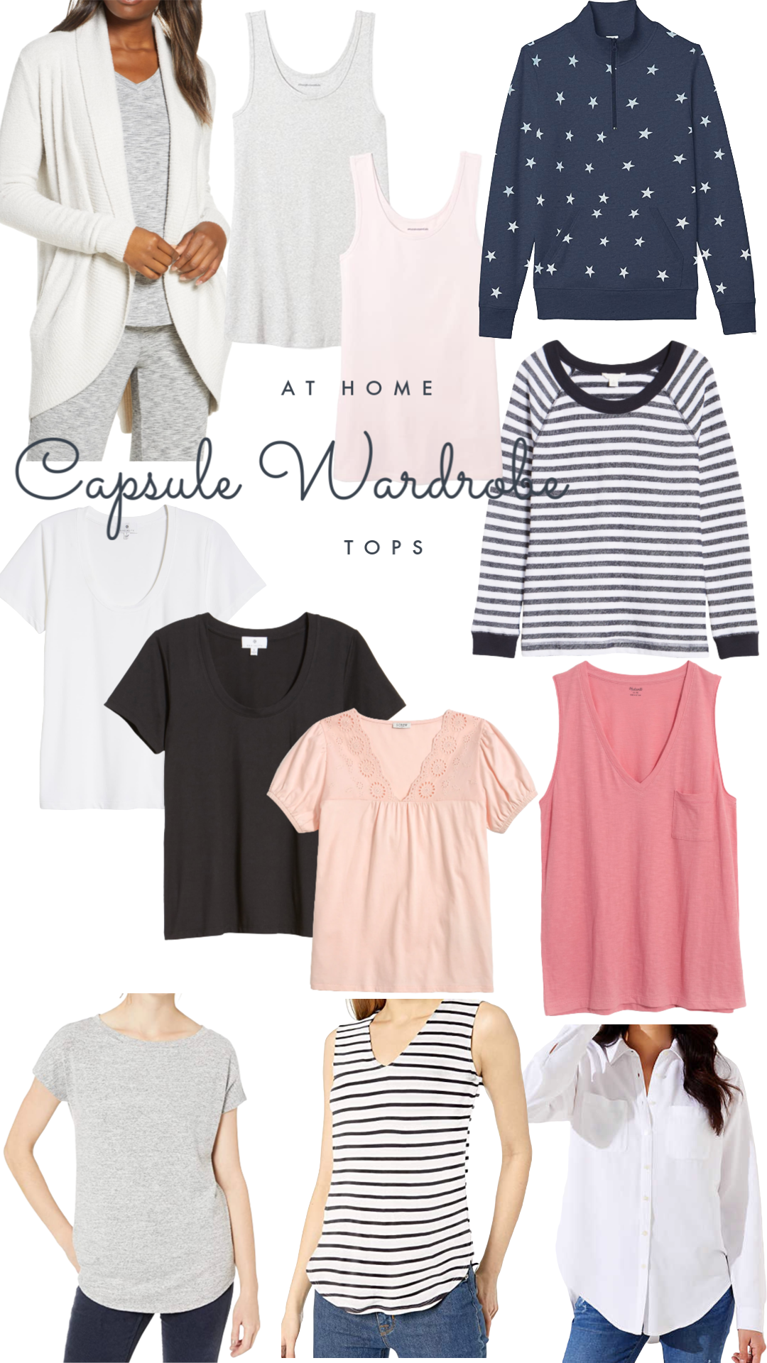Capsule Wardrobe At Home Tops