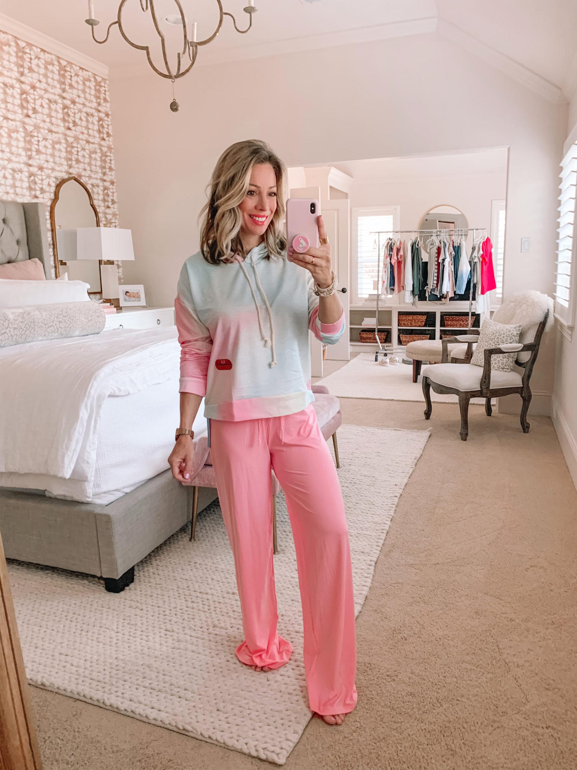 Amazon Haul - Pink Tie Dye Hoodie, Pink Lounge Pants