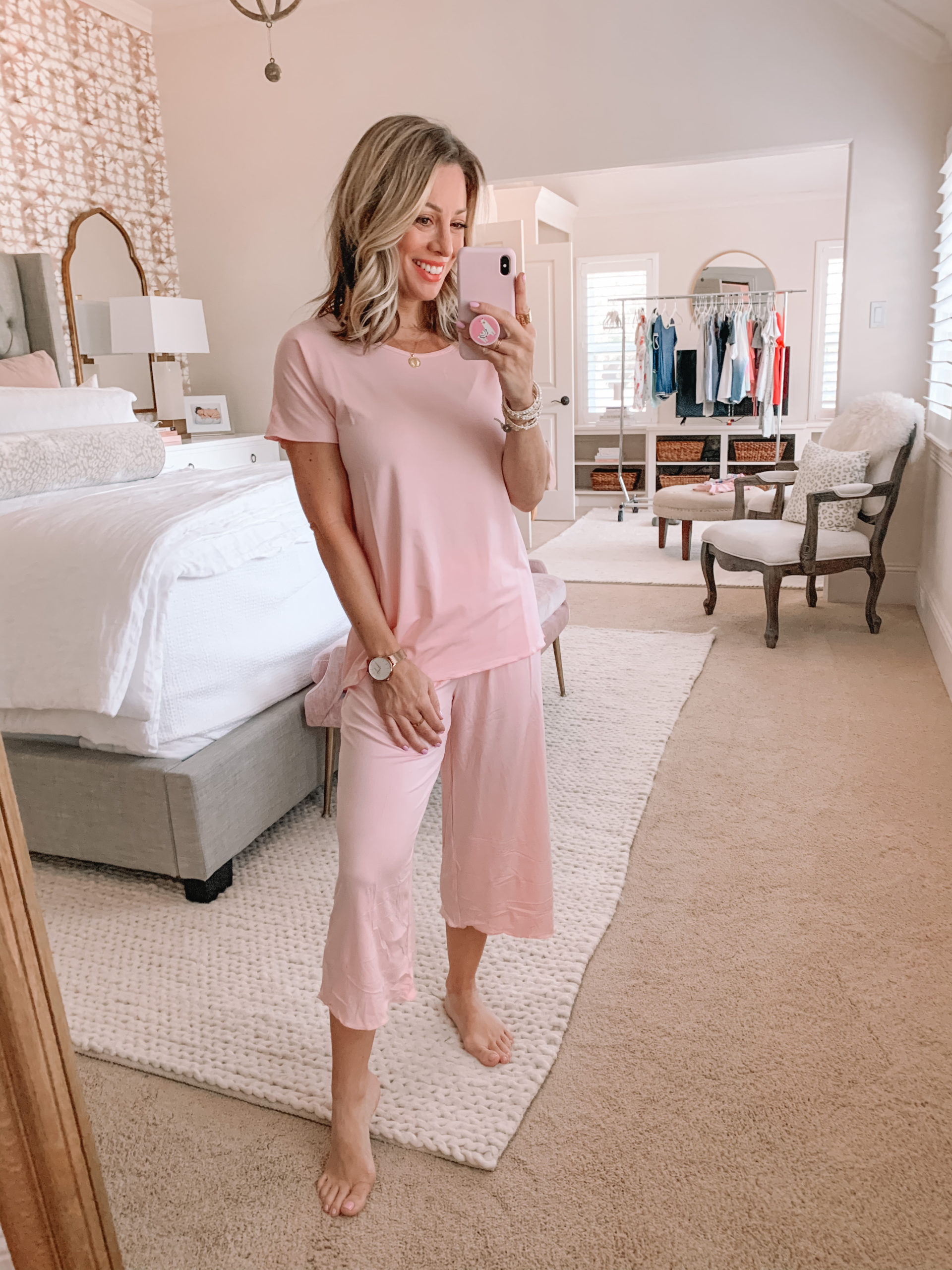 Amazon Haul - Pink Capri Pajama Set