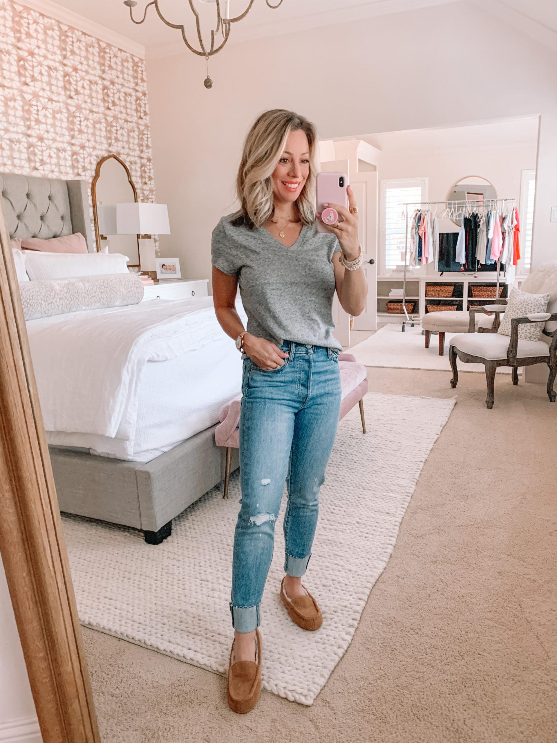 Amazon Haul - grey tee and jeans