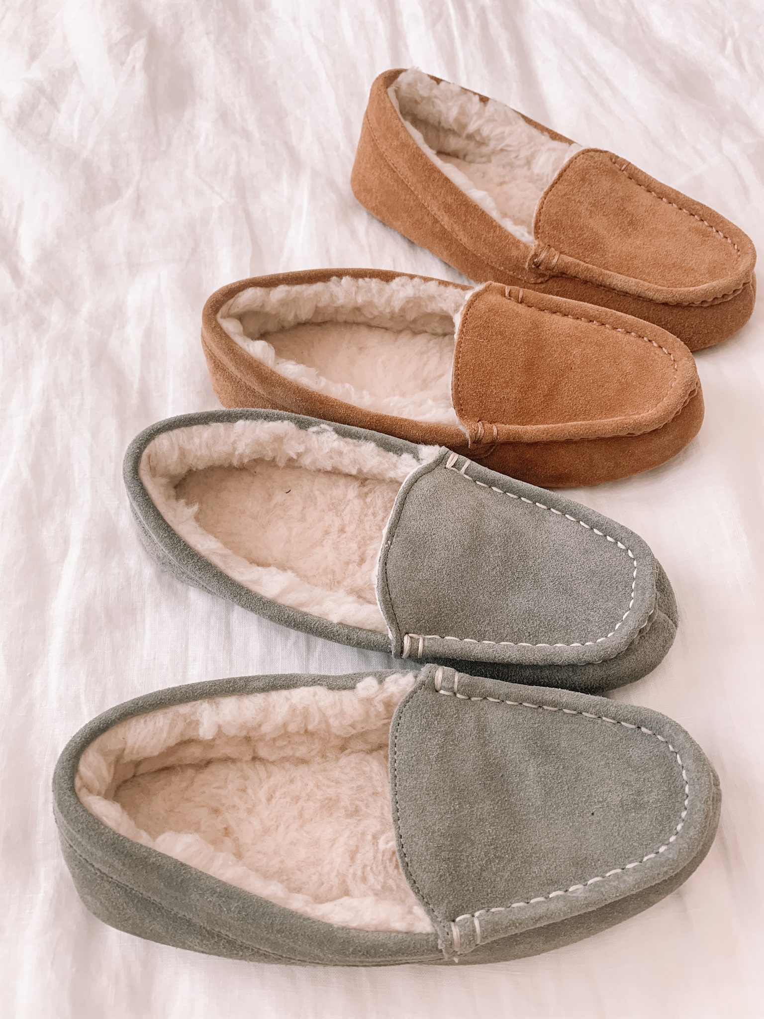 Amazon Haul - Brown Moccasin Slipper, Grey Moccasin Slippers