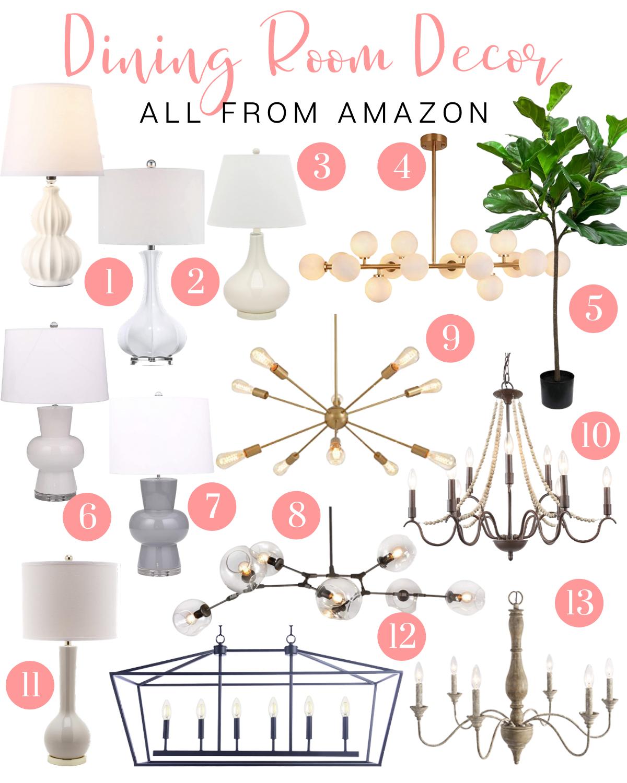 Lamps and Chandeliers on Amazon