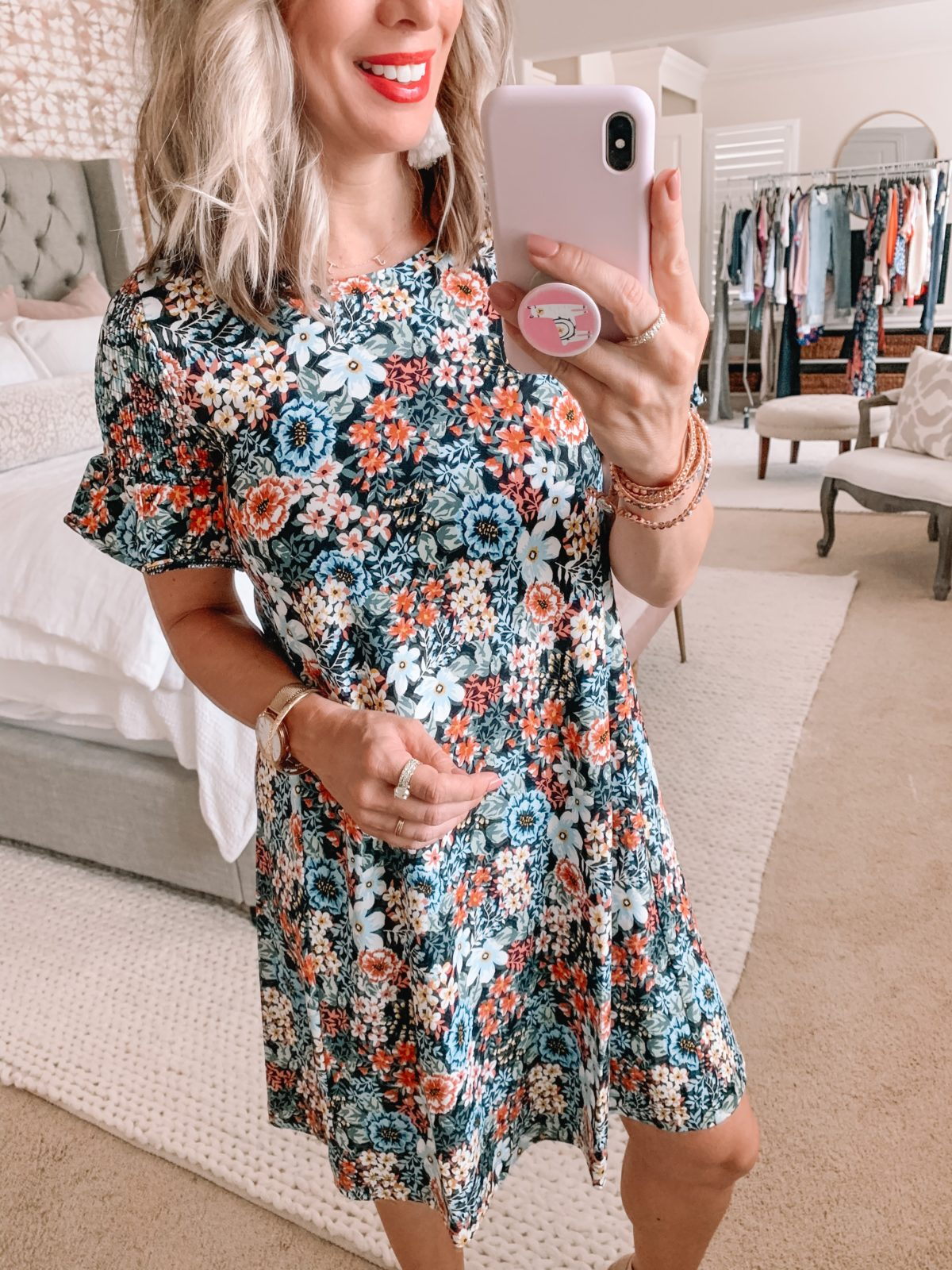 Dressing Room Finds Nordstrom and LOFT, Floral Swing Dress