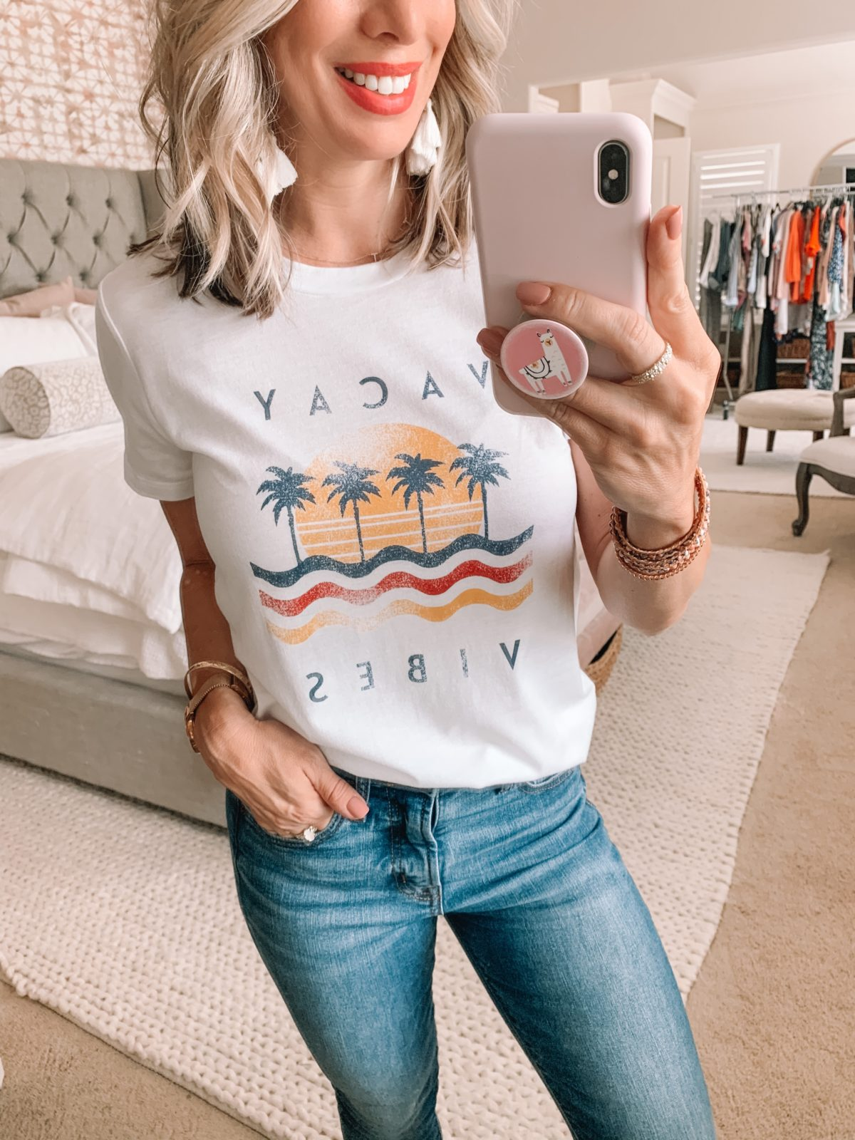 Dressing Room Finds Nordstrom & LOFT, Vacay Tee, Skinny Jeans