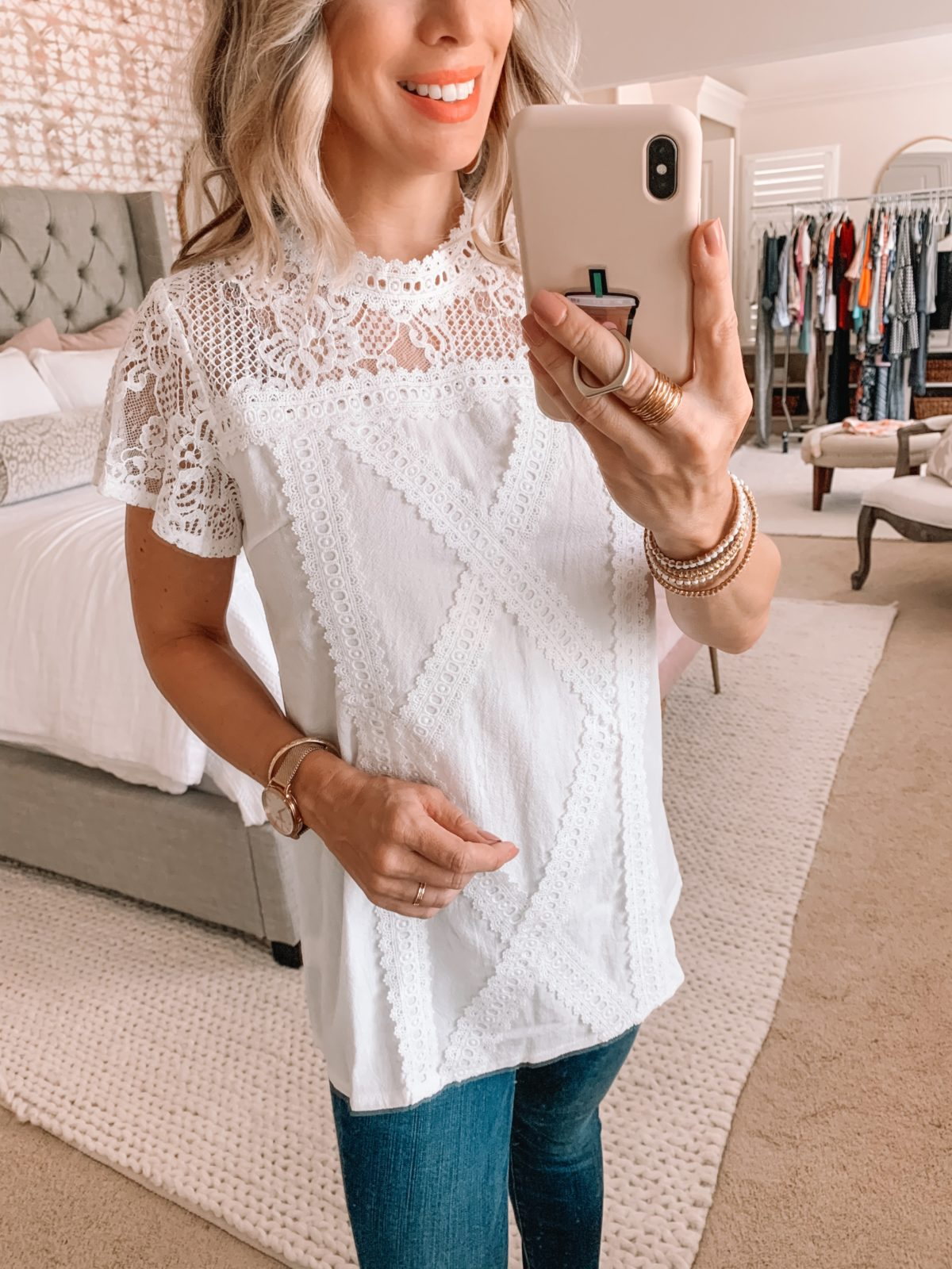 Amazon Fashion Finds, Lace Top, Skinny Jeans