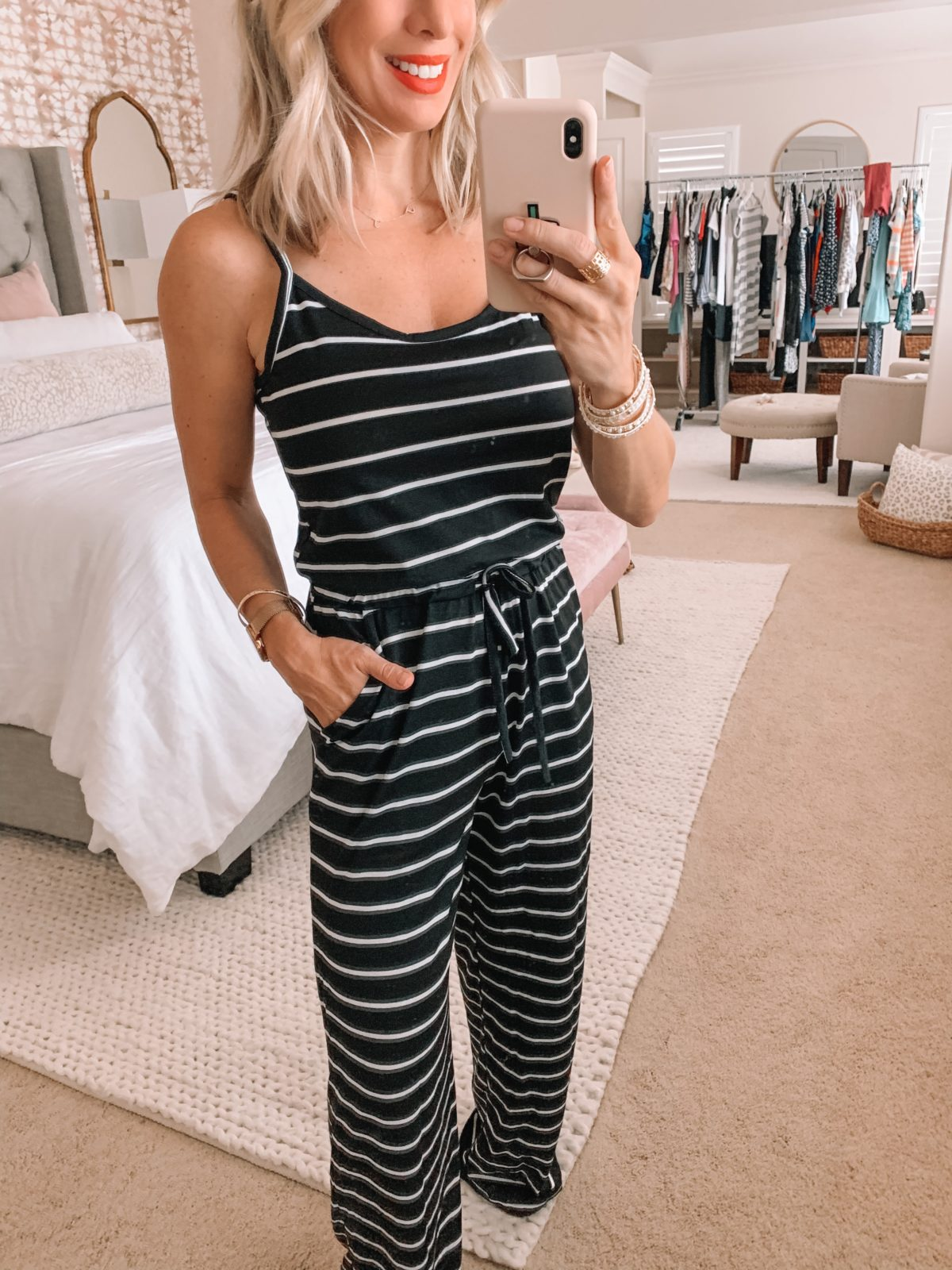 Amazon Fashion Finds, Striped Spaghetti Strap Jumpsuit