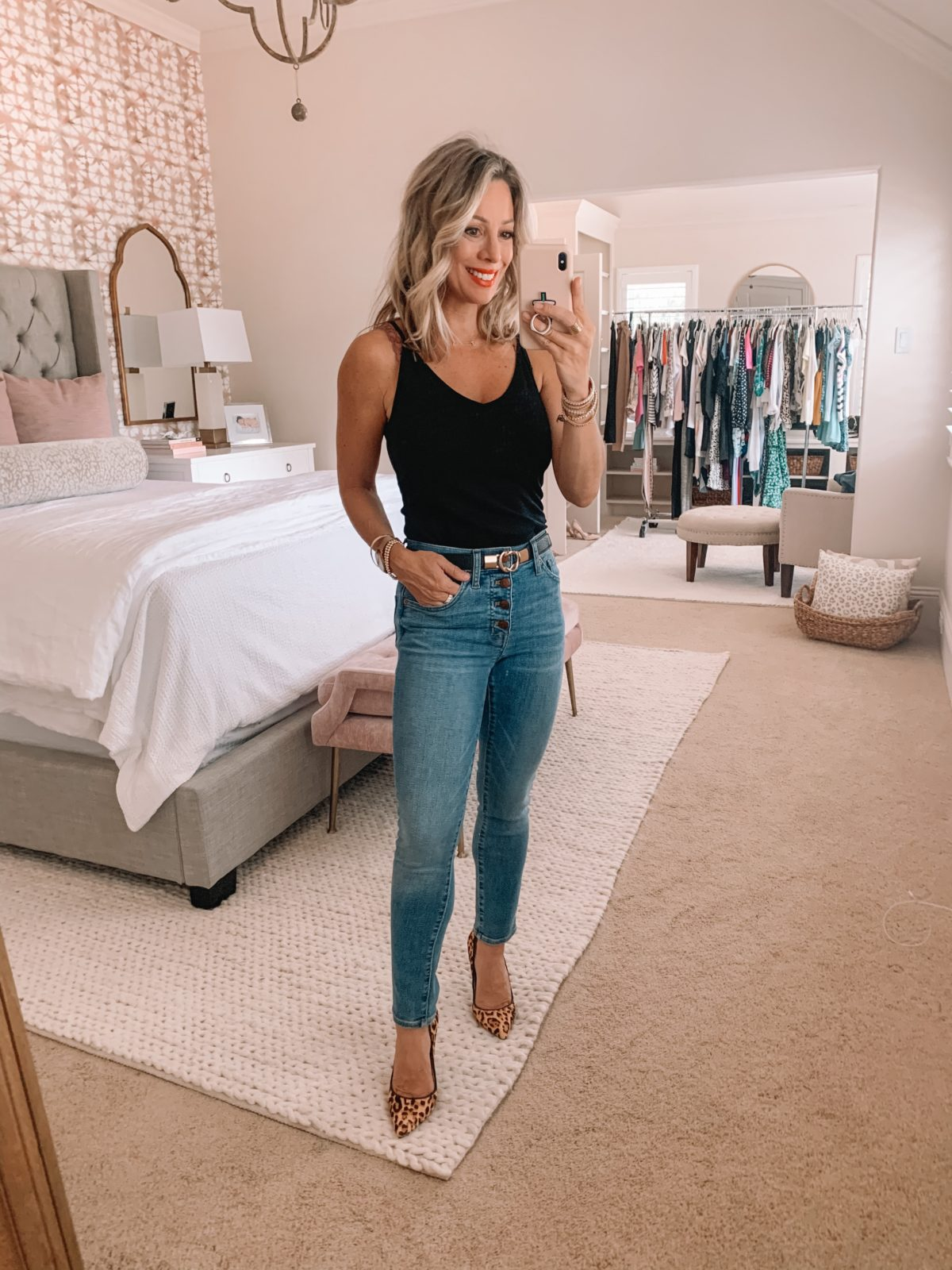 Summer outfit black tank and jeans