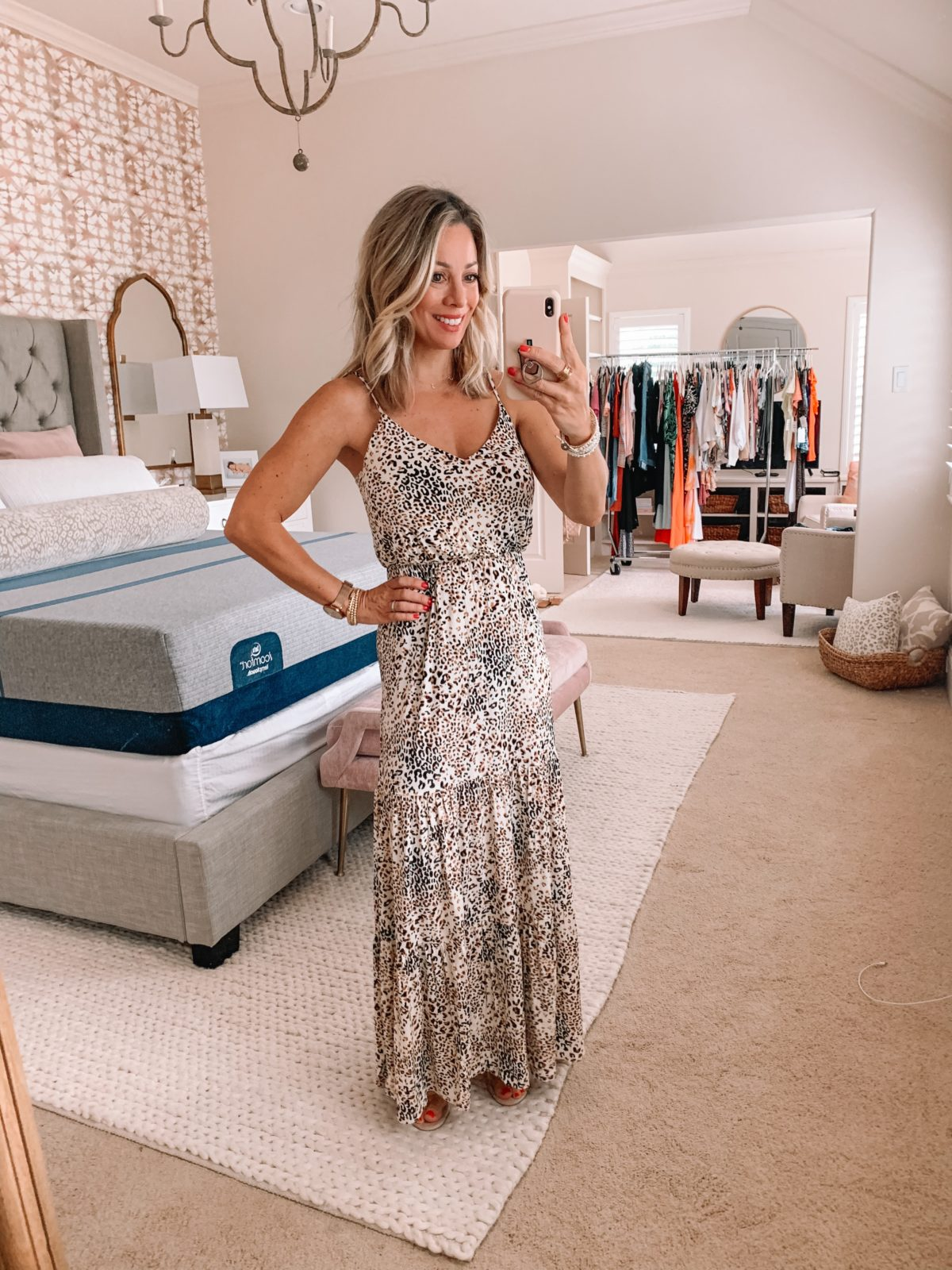 Dressing Room Finds Nordstrom and Target, Leopard Print Maxi