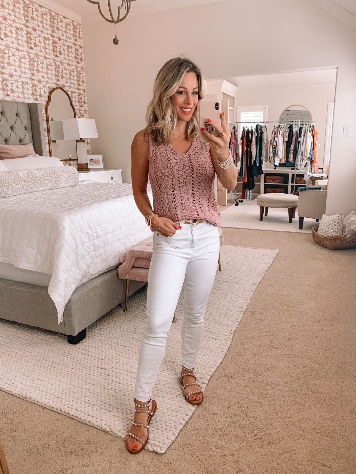 Dressing Room Finds Nordstrom and Target, Sweater Tank, Studded Sandals