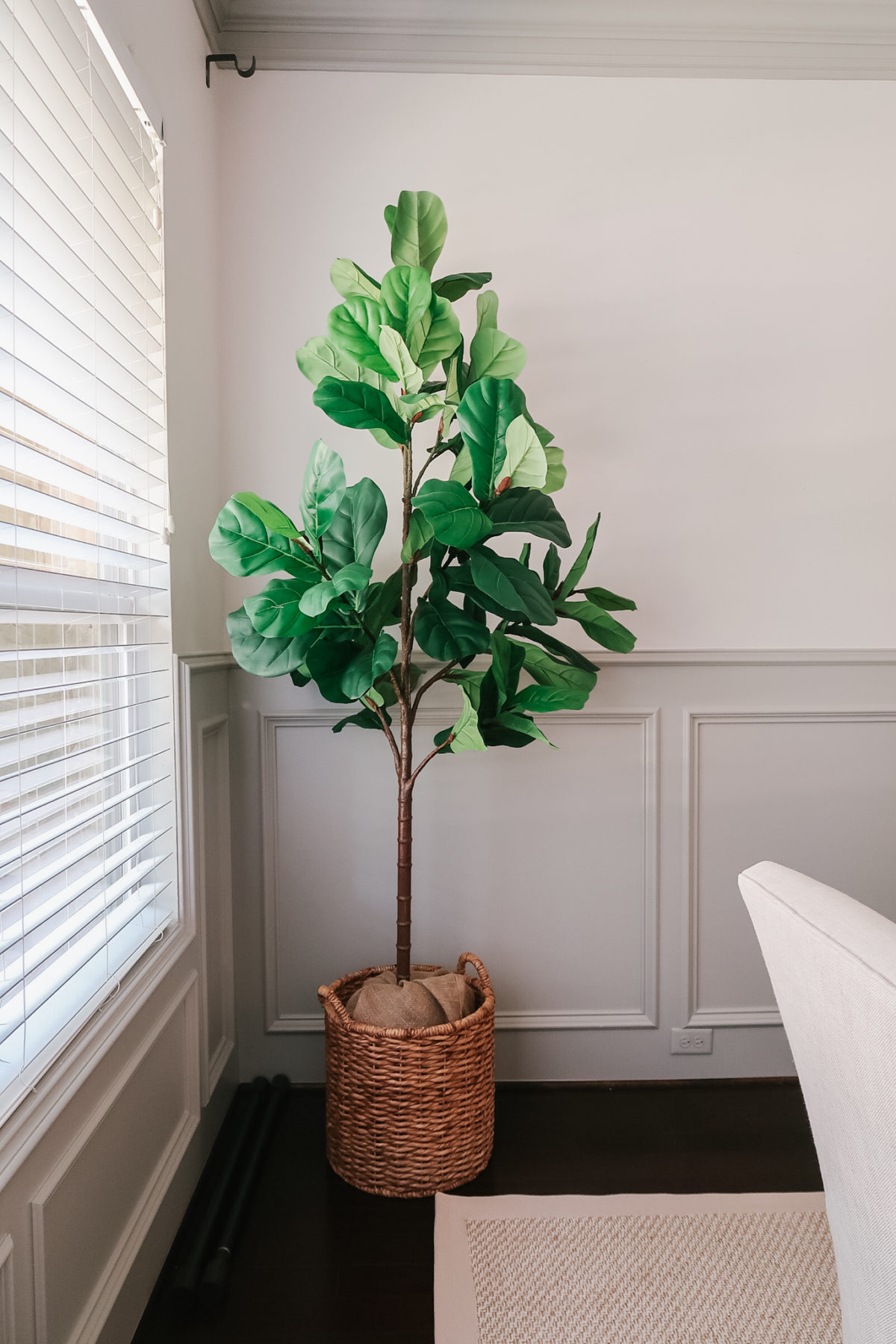Pottery Barn faux fiddle leaf fig tree