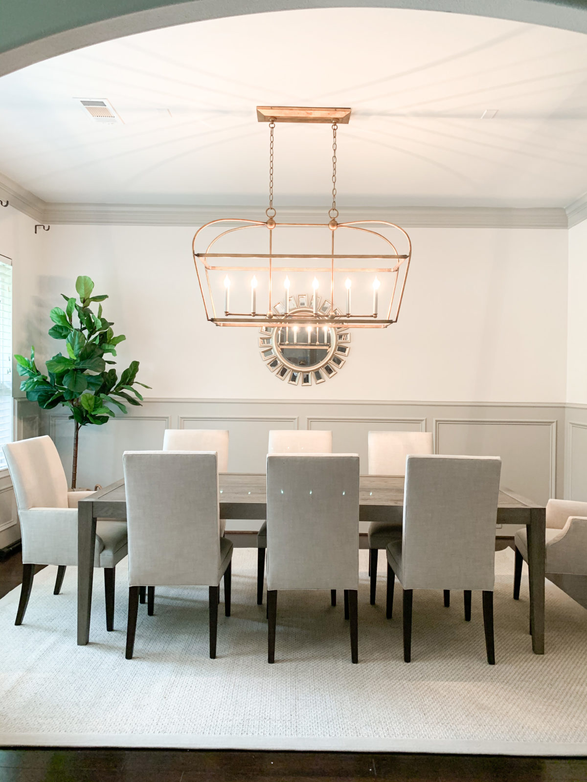 Neutral Dining Room Makeover