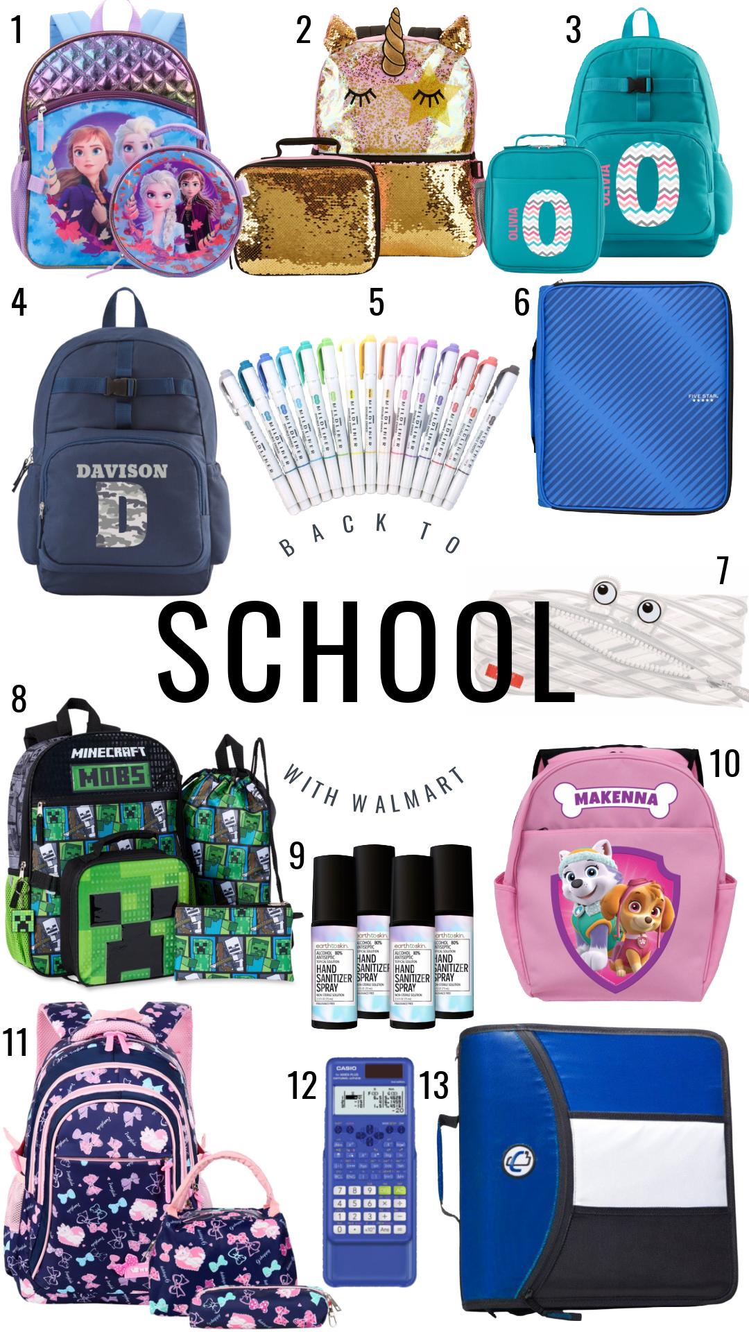 Back to School with Walmart backpacks