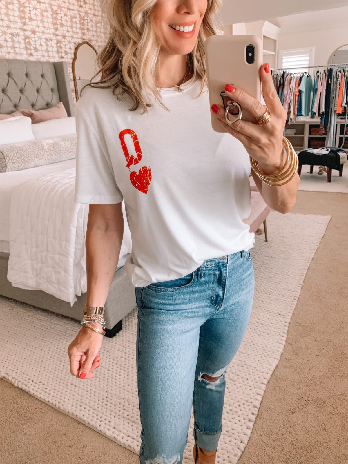 Amazon Fashion Finds, Queen of Hearts Tee, Distressed Jeans