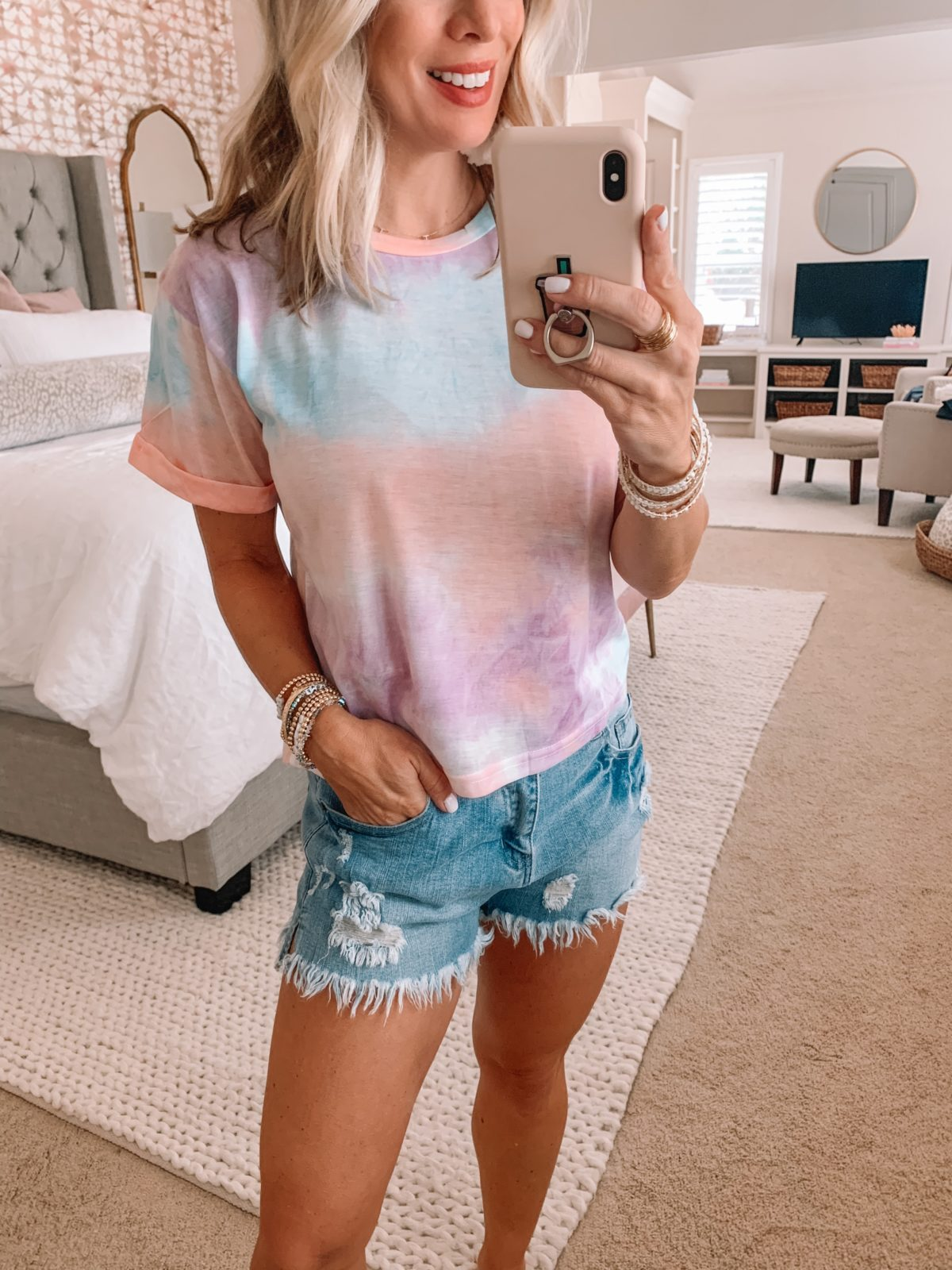 Amazon Fashion Finds, Tie Dye Tee, Shorts