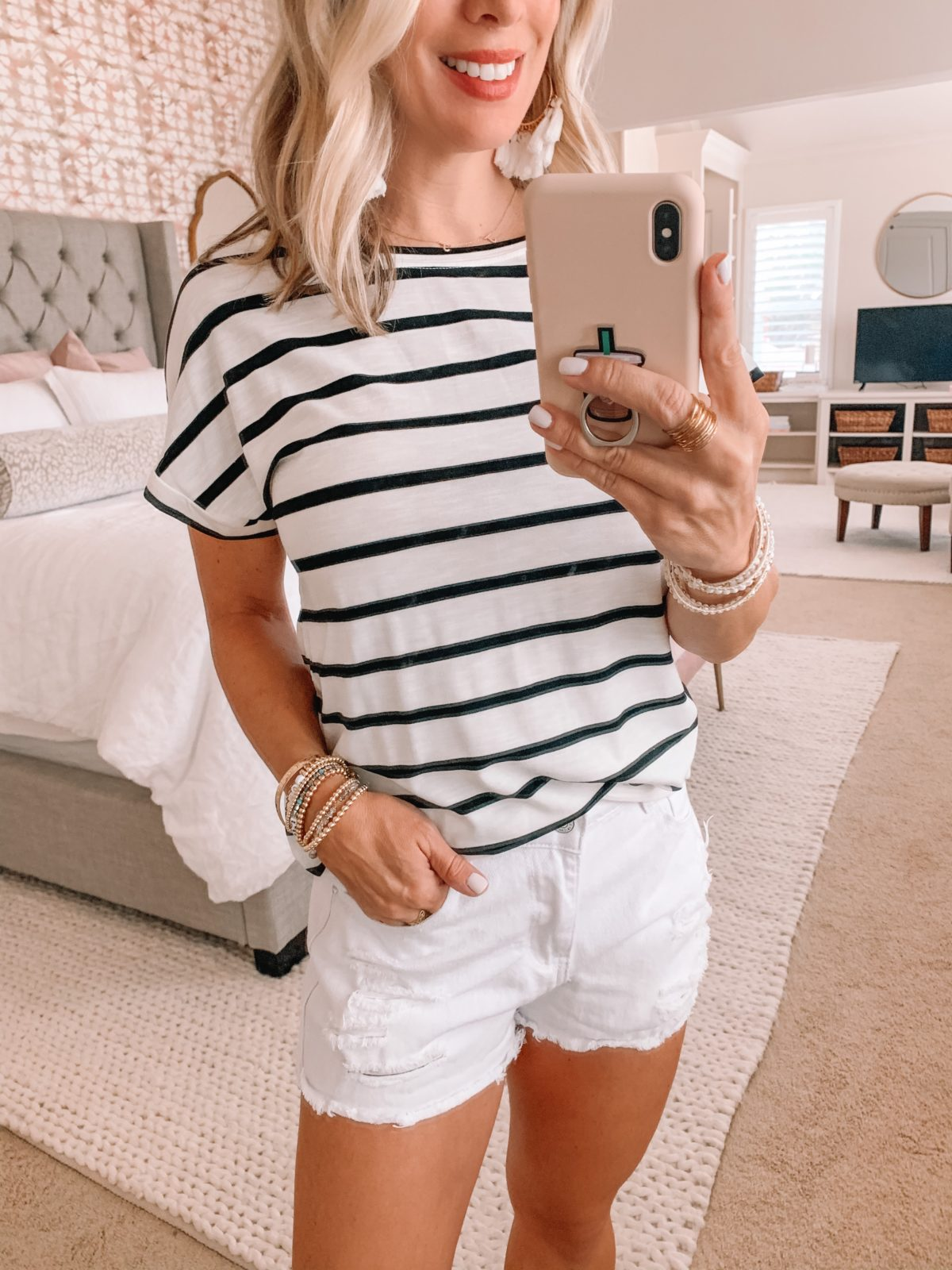 Amazon Fashion Finds, Stripe Tee, Shorts