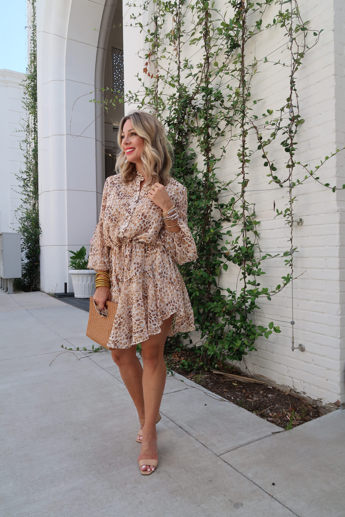 Flirty Summer Styles & Date Night Dresses,Leopard Dress, Sandals
