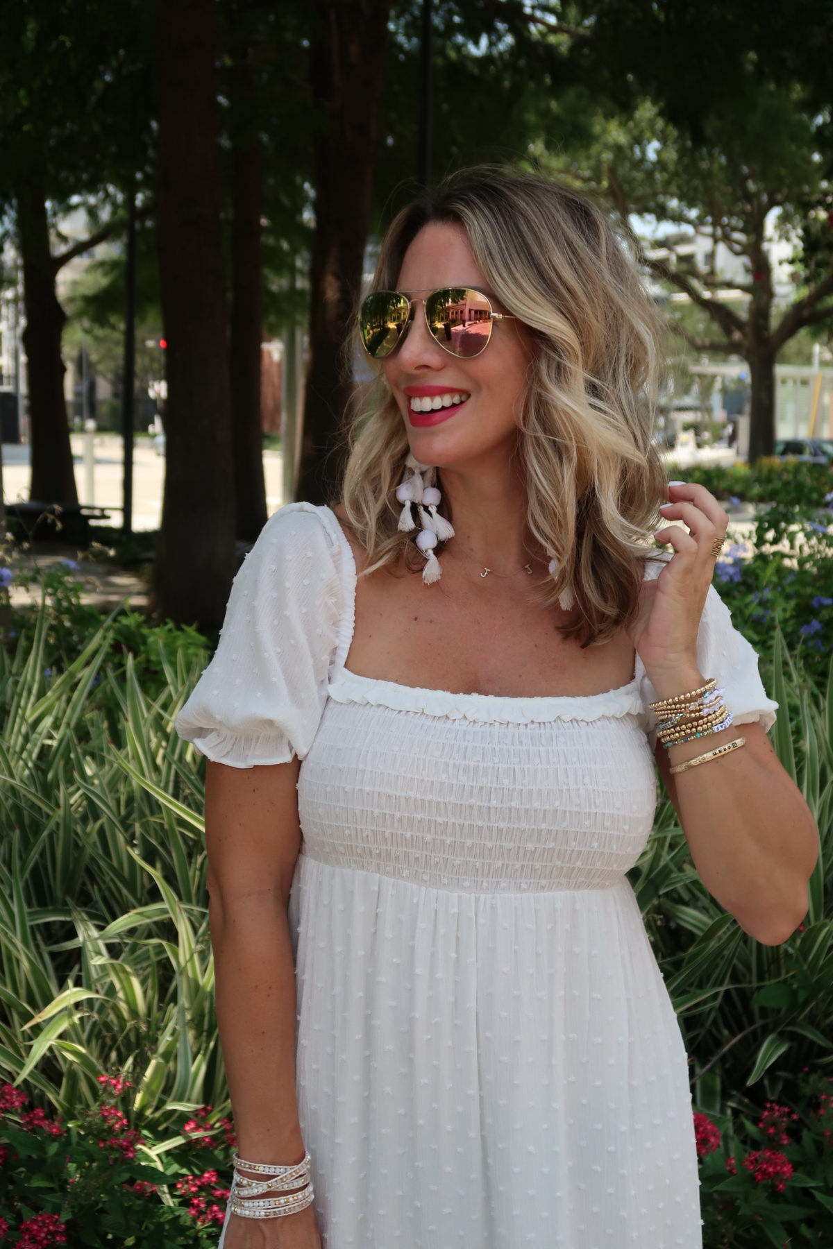 New Summer Styles, Gibson and Nordstrom, White Clip Dot Dress