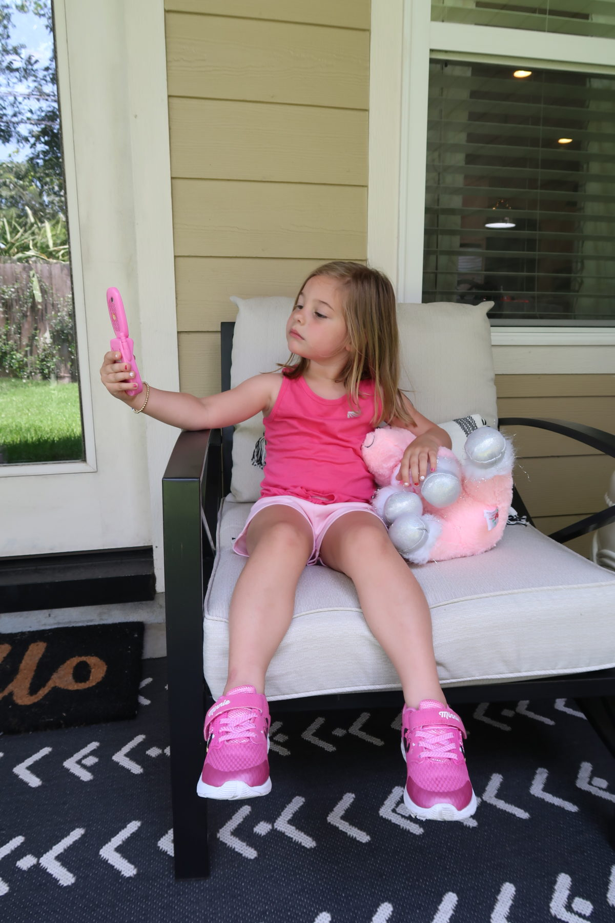 Walmart Girls Pink Athletic Top and Shorts, Minnie Mouse Sneakers
