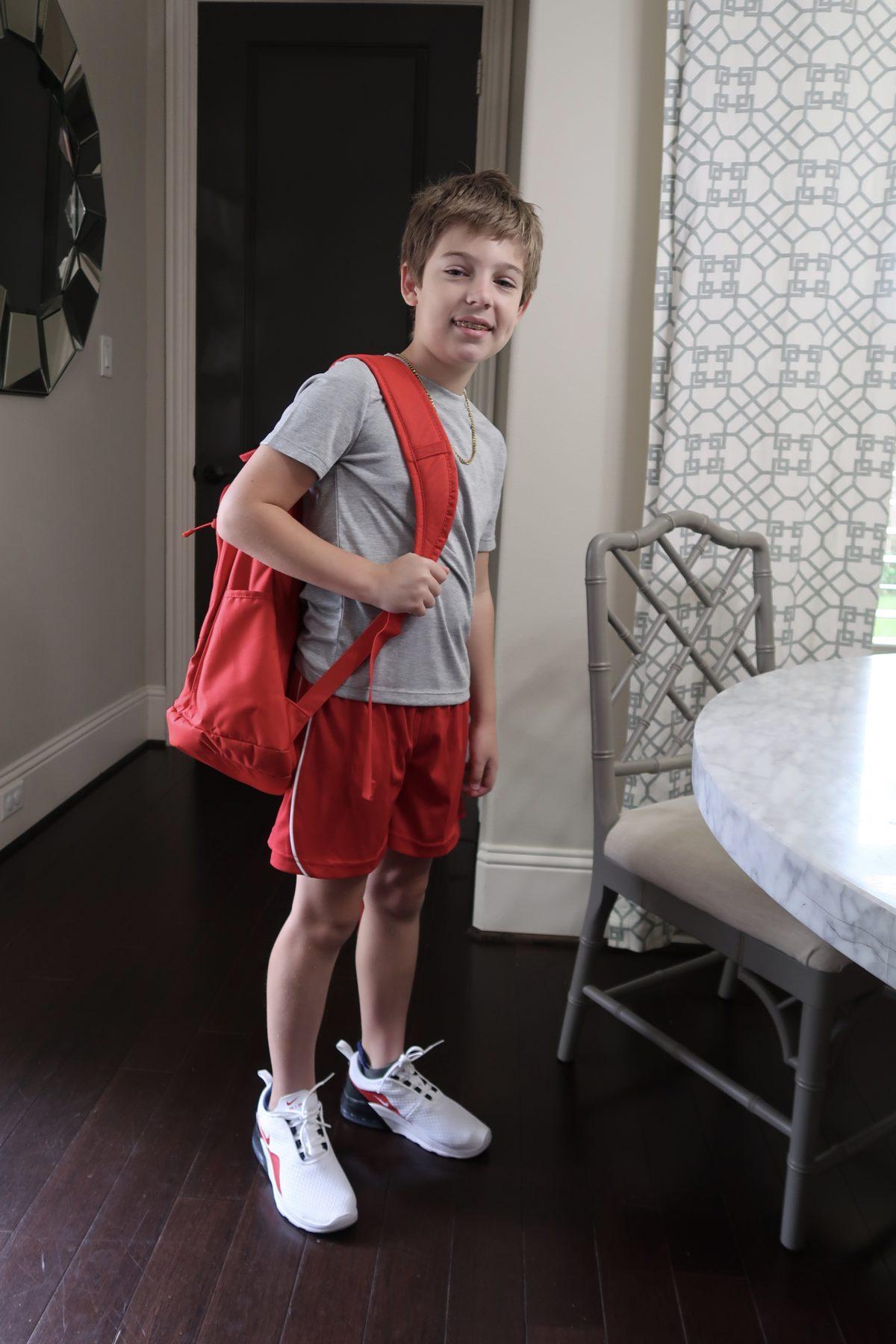 Tax Free Weekend, Academy Tee, Black Shorts, Nike Backpack