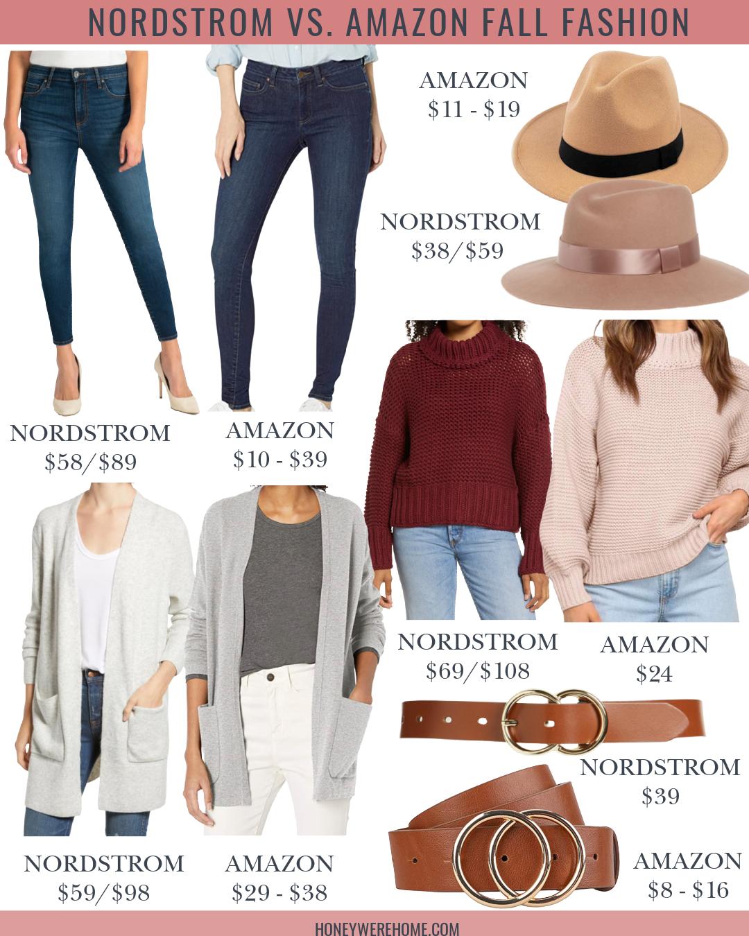 Amazon vs. Nordstrom Fall Fashion