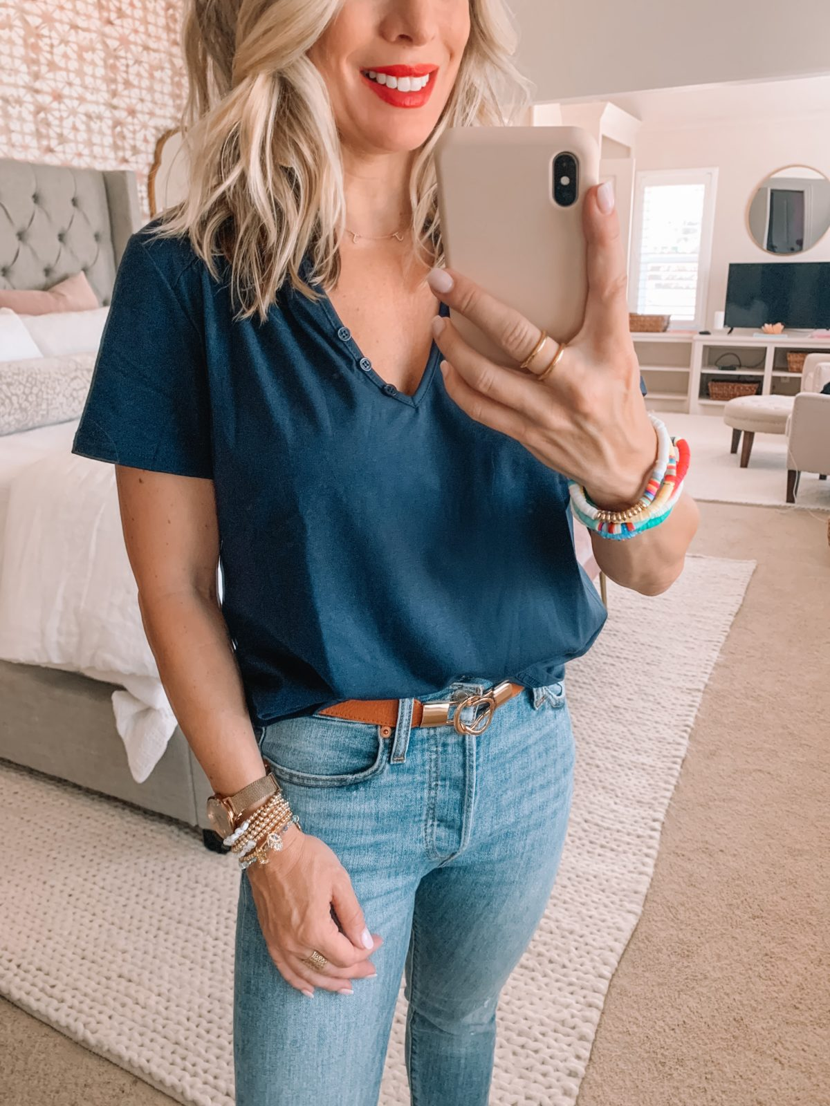 Amazon Fashion Finds, Short Sleeve Tee, Skinny Jeans, Elastic Belt