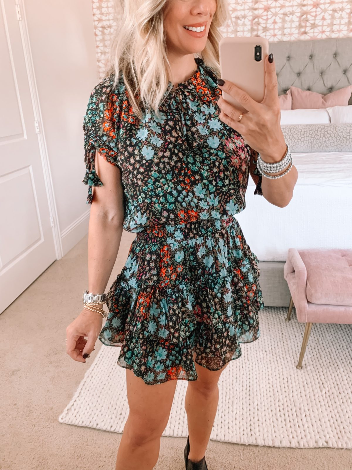 Red Dress Fashion FInds, Dress, Booties
