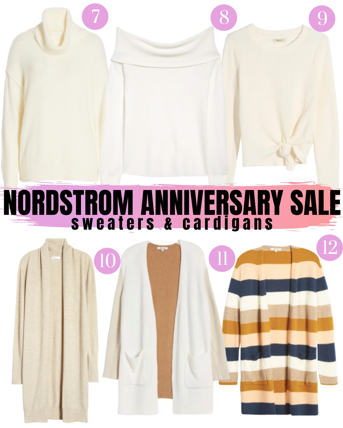 Nordstrom Anniversary Sale 2020 sweaters and cardigans