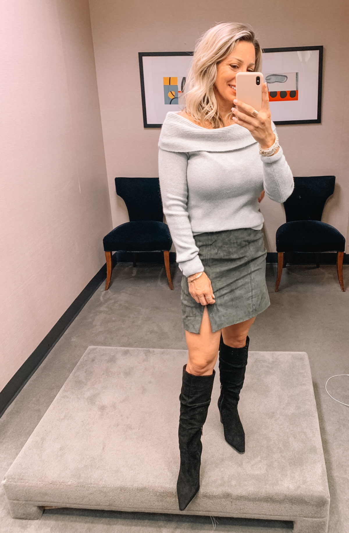 Nordstrom Anniversary Sale 2020 sweater boots suede skirt
