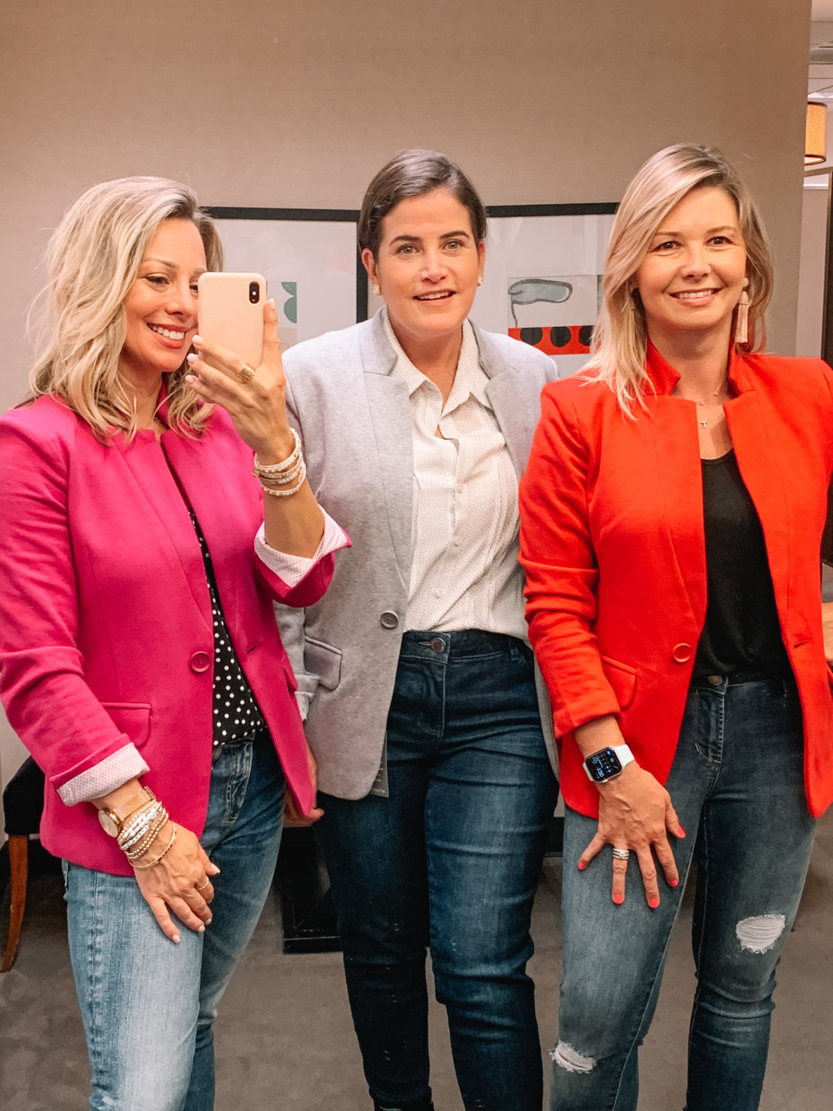 Nordstrom Anniversary Sale 2020 jeans and blazer blouse