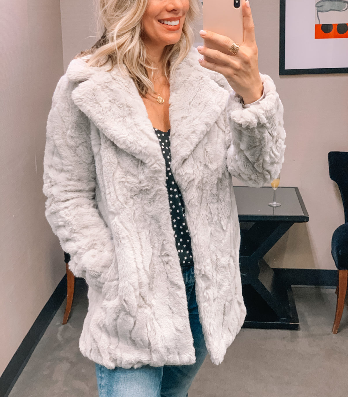 Nordstrom Anniversary Sale 2020 faux fur Coat blouse