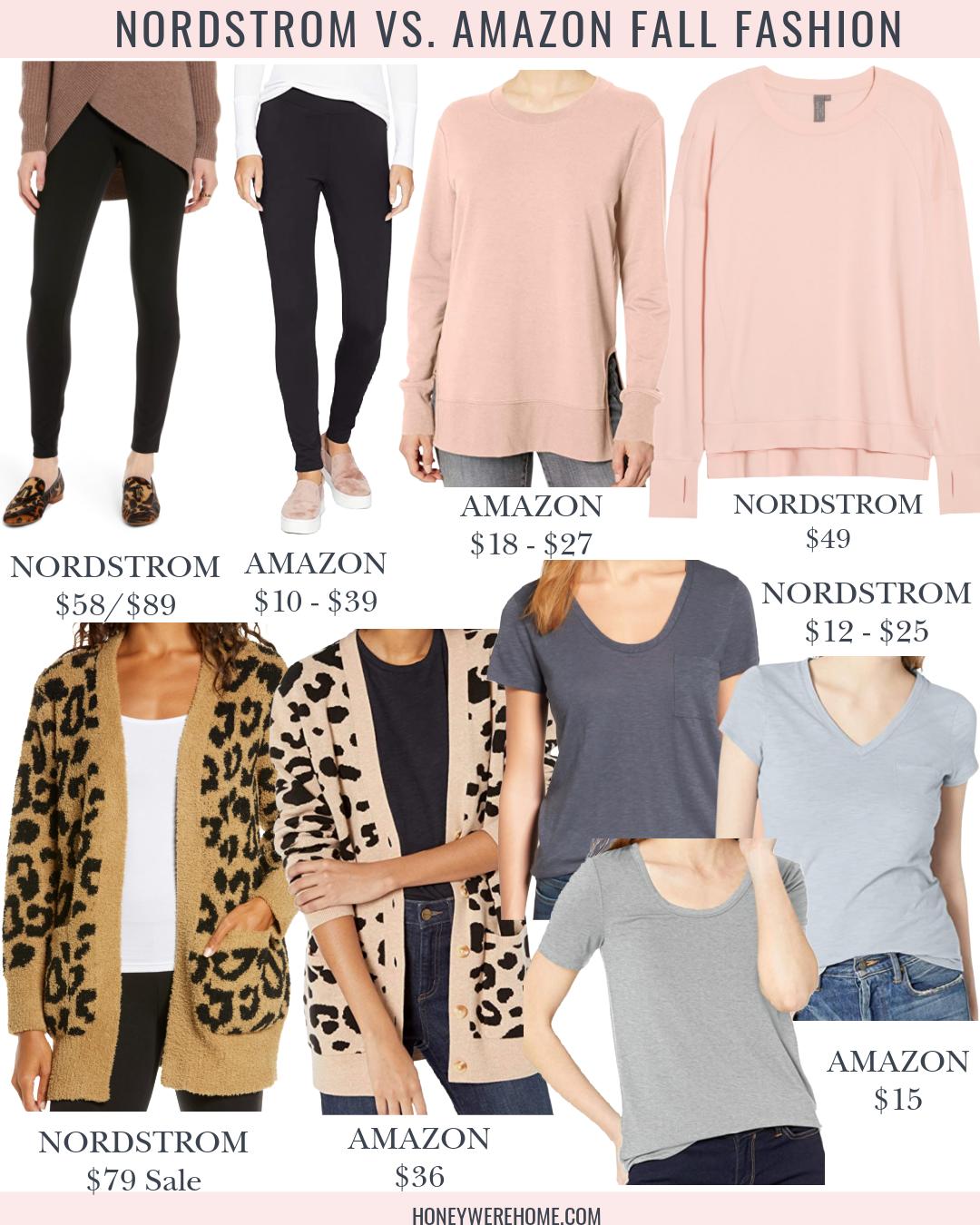Nordstrom v. Amazon Fall Fashion