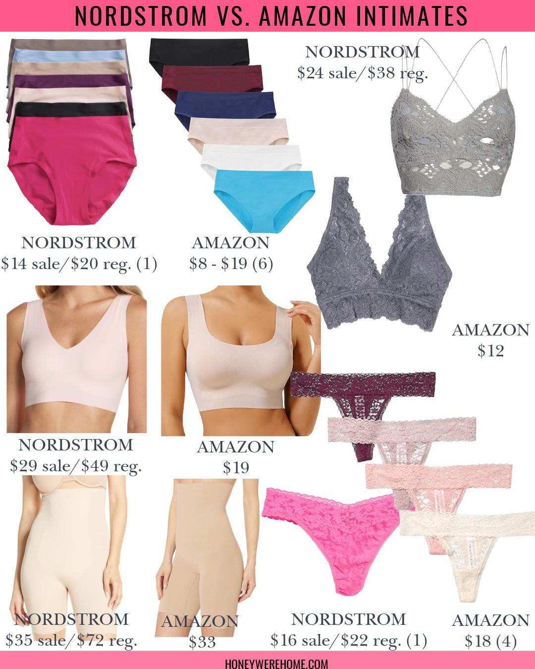 Nordstrom vs. Amazon Intimates