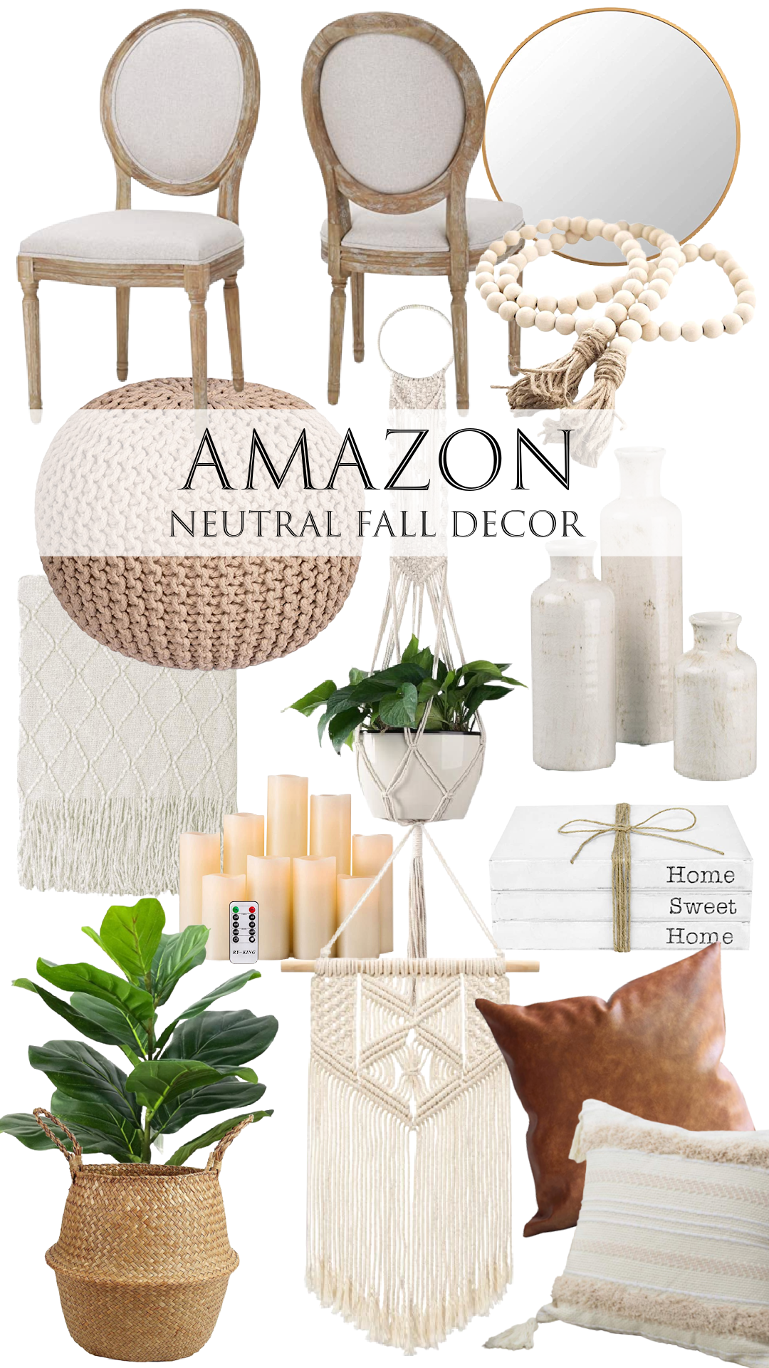 Amazon Neutral Fall Decor