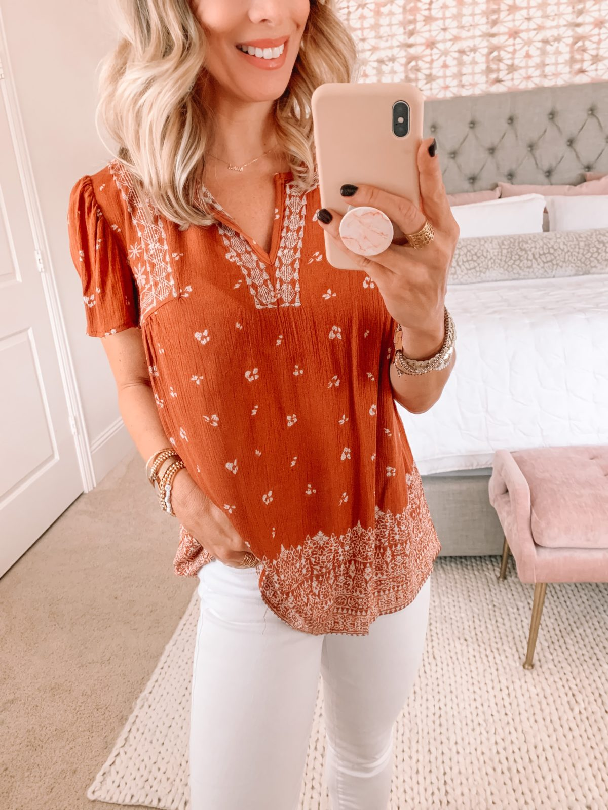 Dressing Room Finds Target, Boho Top, Jeans