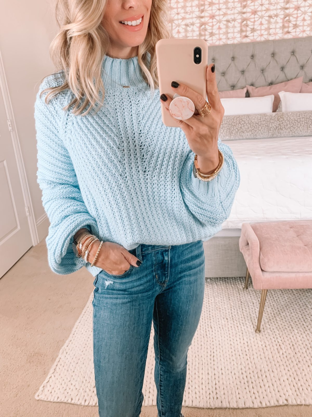 Amazon Fashion Faves, Baby Blue Sweater
