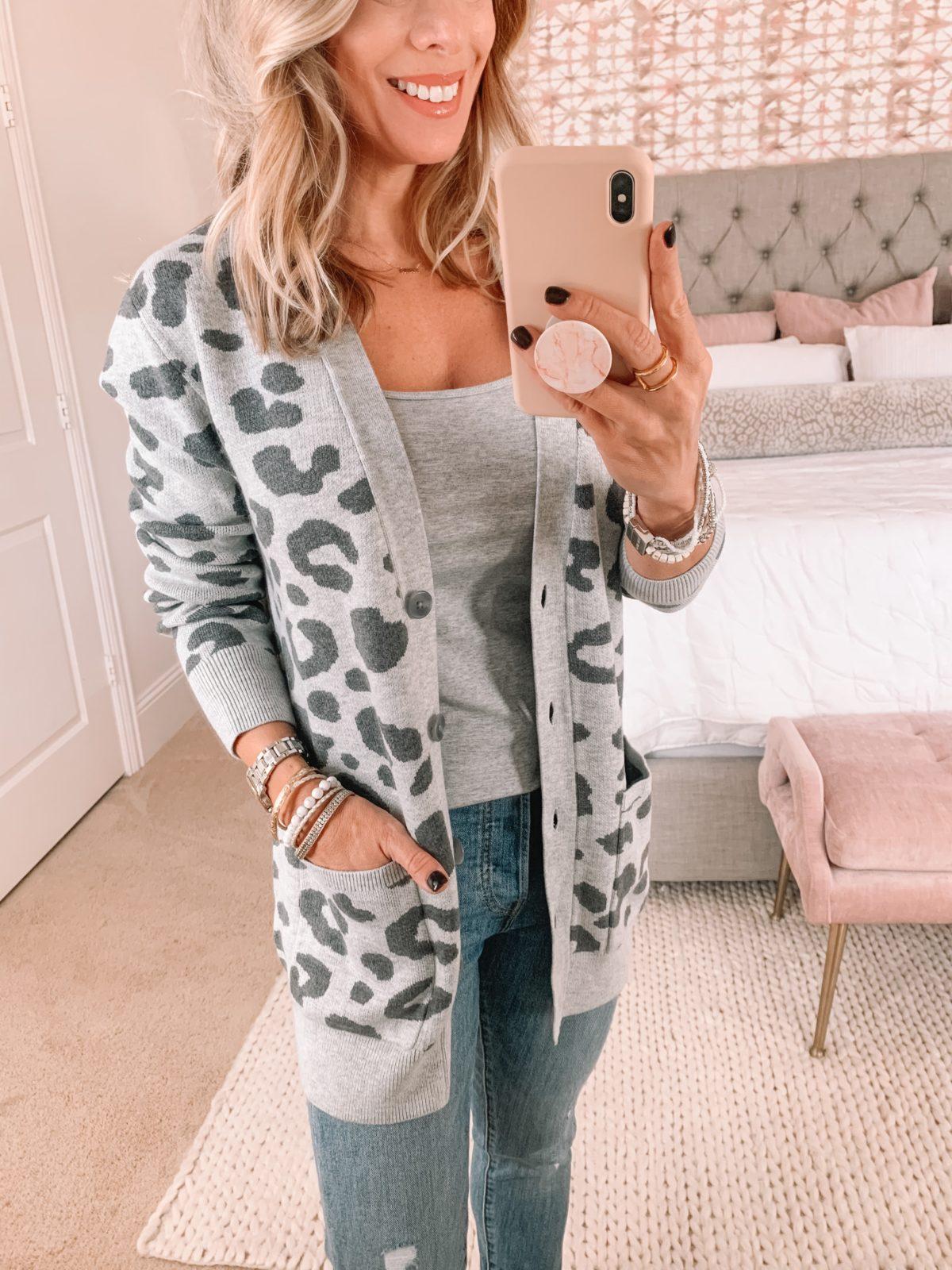 Amazon Fashion Faves, Leopard Cardigan