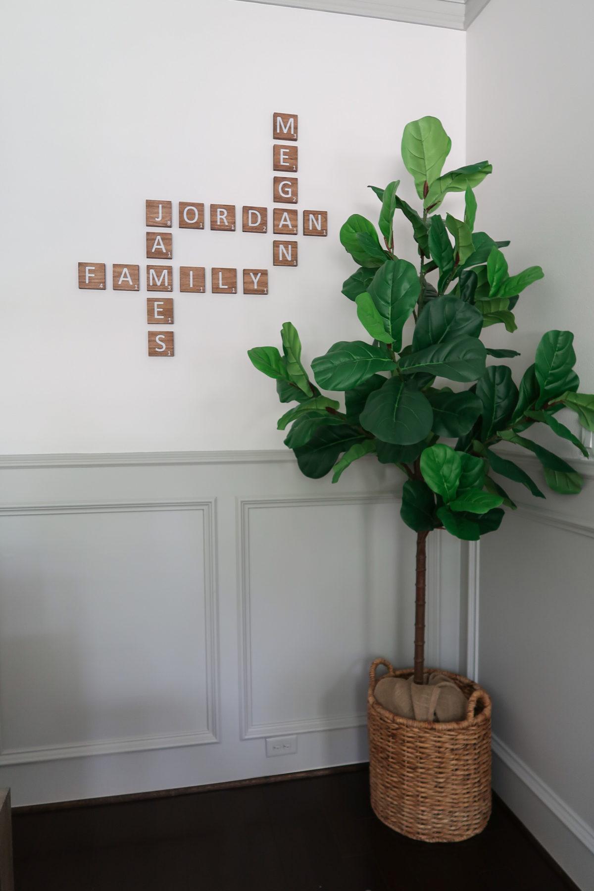 scrabble letter wall art