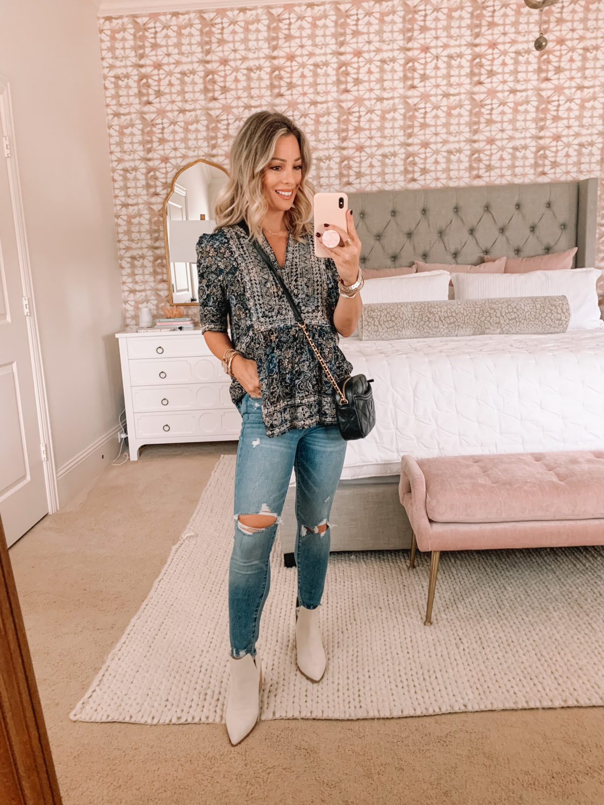 Dressing Room Finds Target, Jeans, Crossbody, White Booties