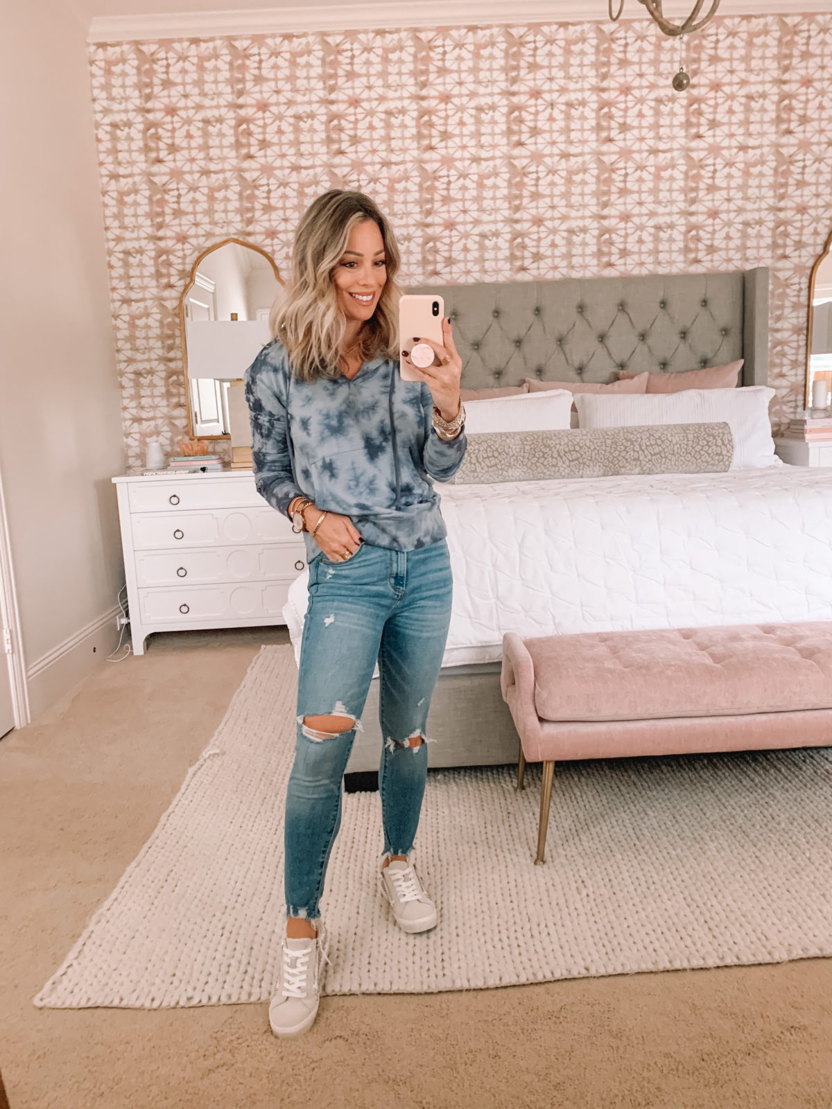 Dressing Room Finds, Target, Distressed Jeans, Sneakers