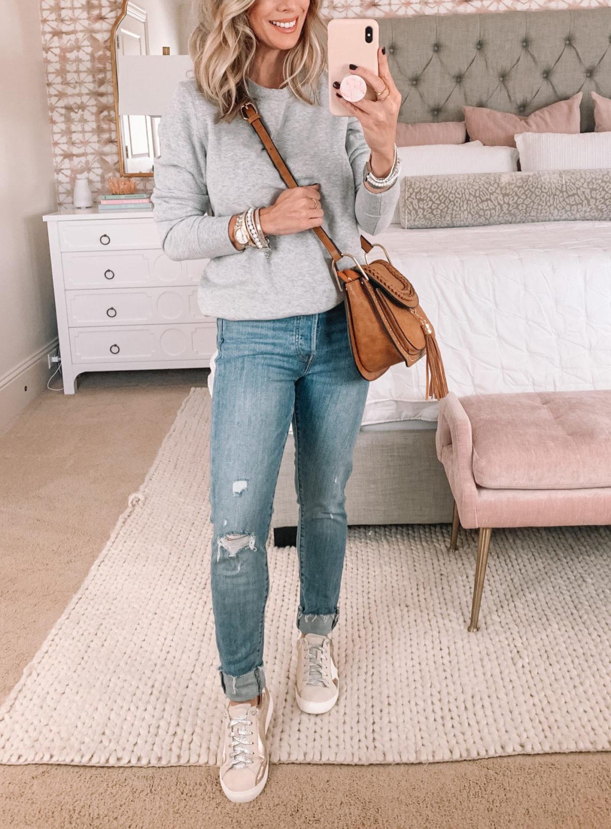 Amazon Fashion Faves, Crewneck Sweatshirt, Crossbody Bag