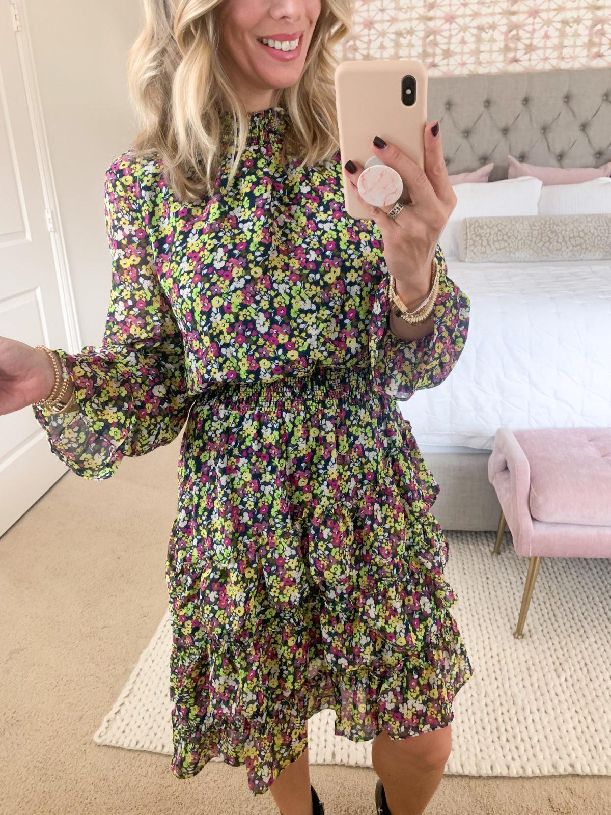 Walmart Fashion, Floral Midi Dress