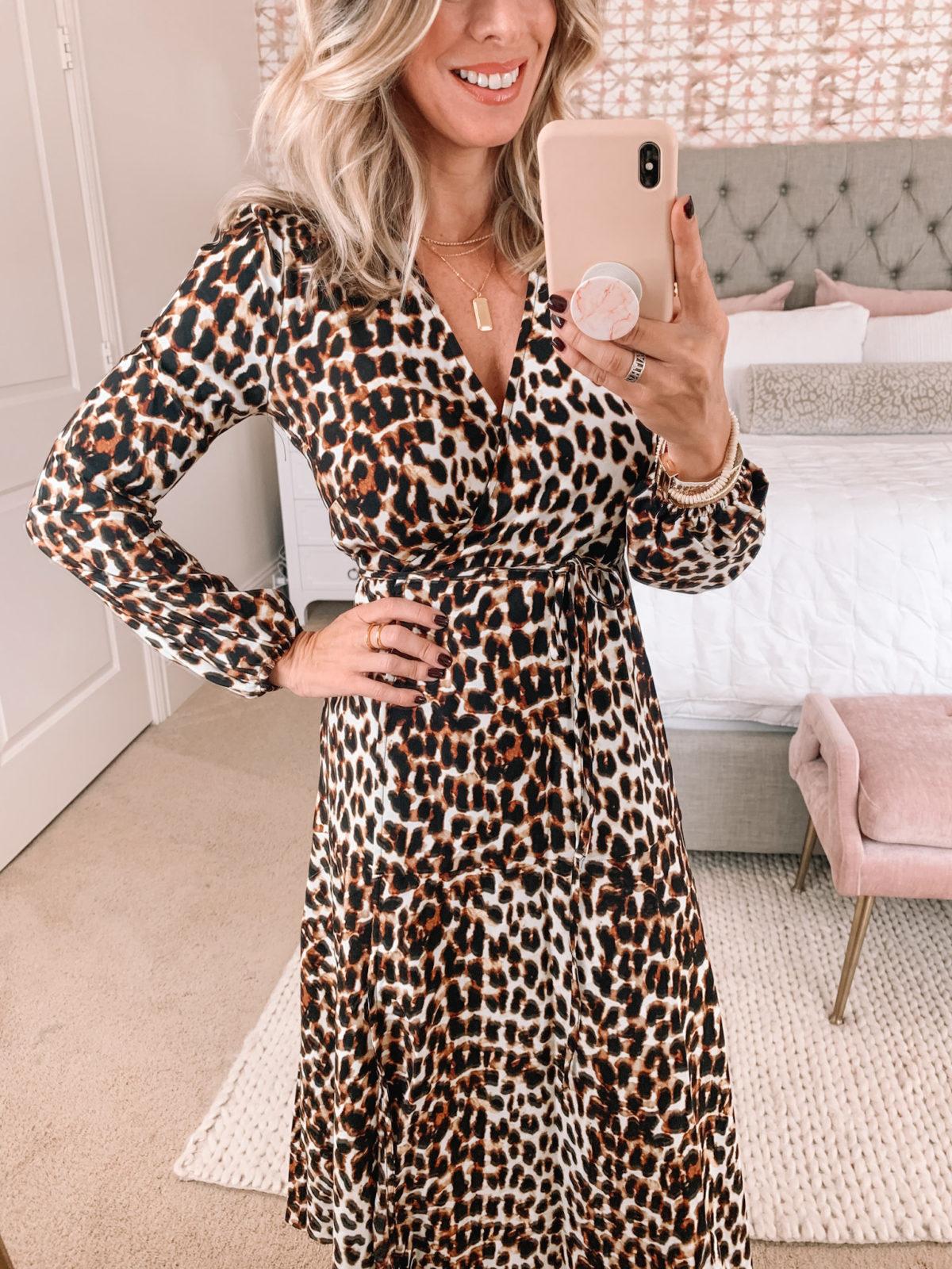 Walmart Fashion, Leopard Dress, Clear Heels
