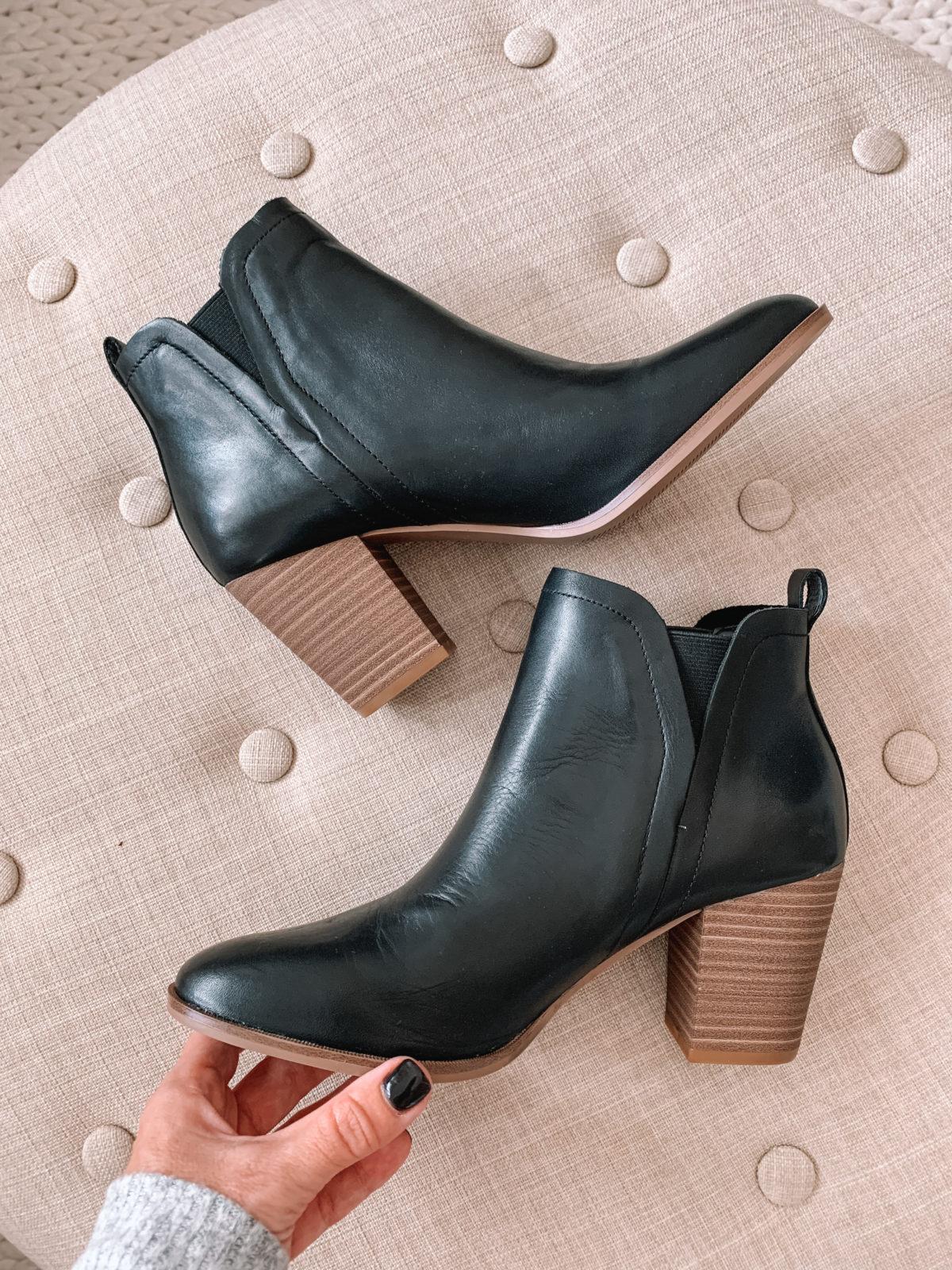 Amazon black booties
