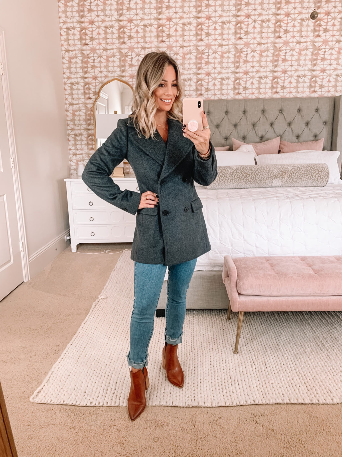 Amazon Fashion Faves, Peacoat, Jeans, Booties