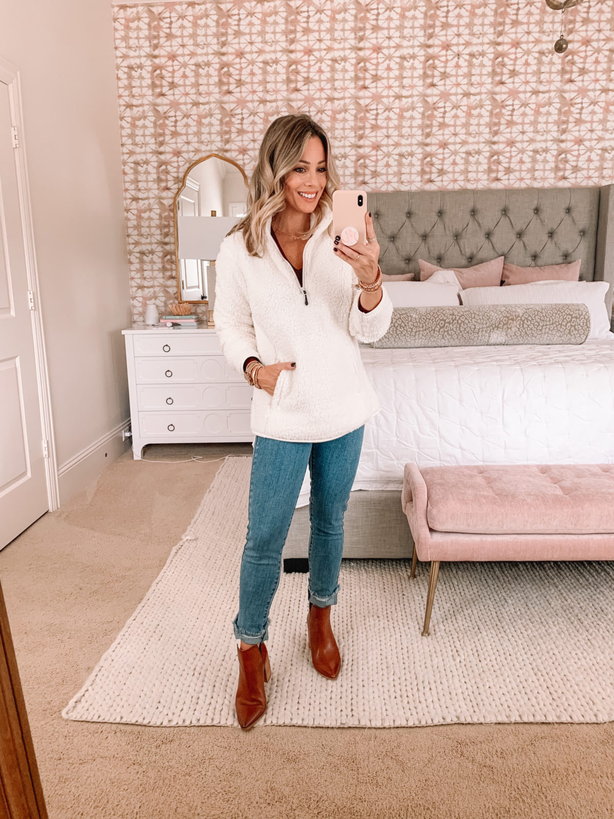 Amazon Fashion Faves, Teddy Bear Fleece, Jeans, Booties