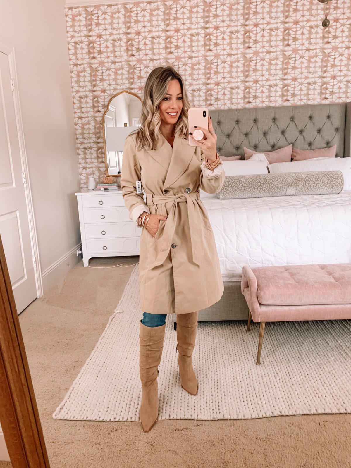 Amazon Fashion Faves, Trench Coat, Knee High Boots