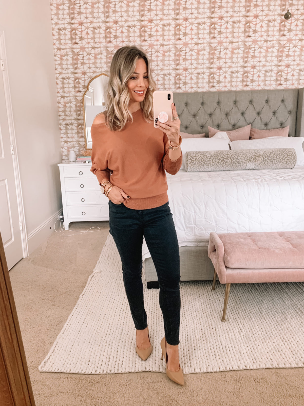 Amazon Fashion Faves, Sweater, Skinny Pants, Heels