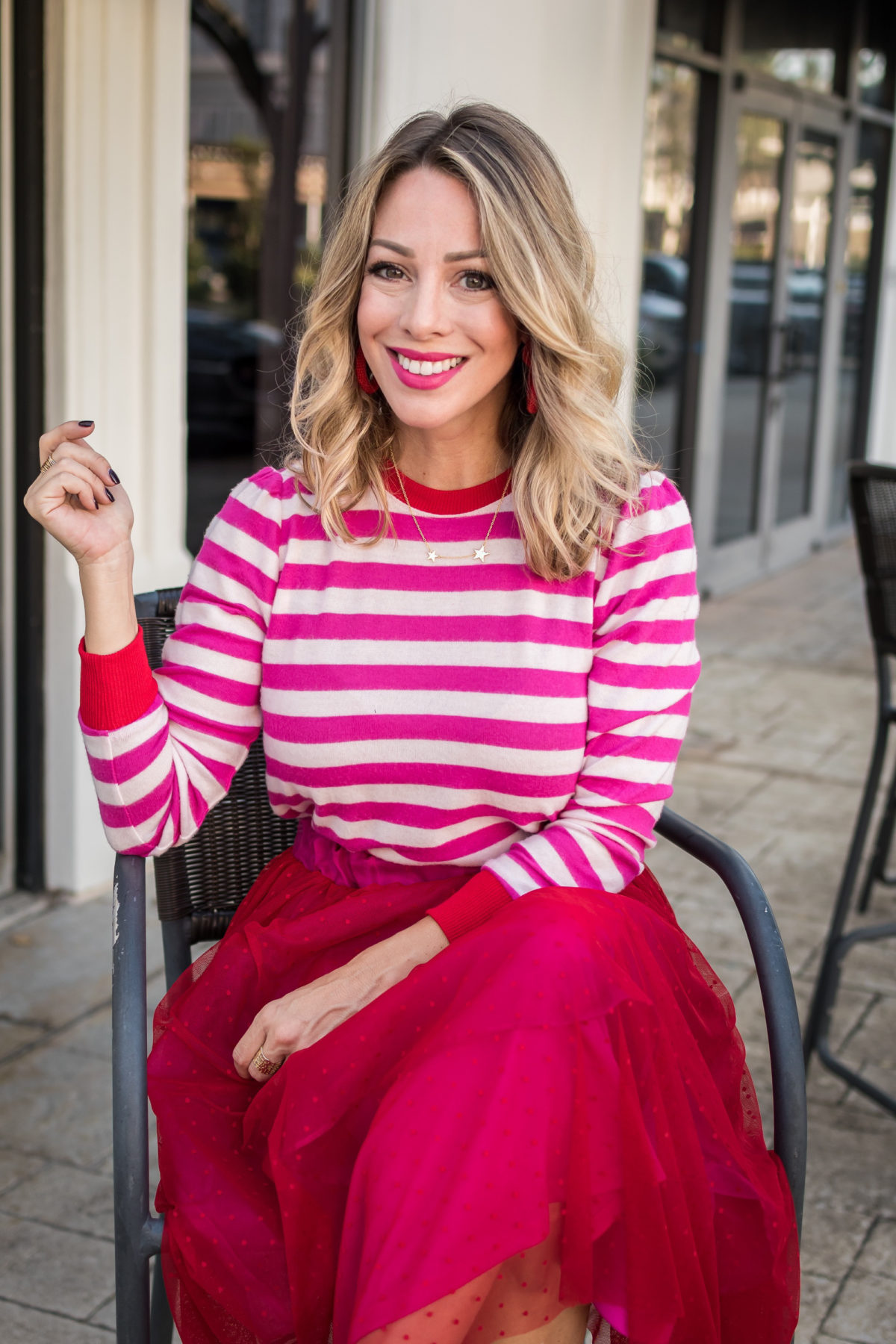 Gibson Fashion, Striped Sweater, Tulle Skirt