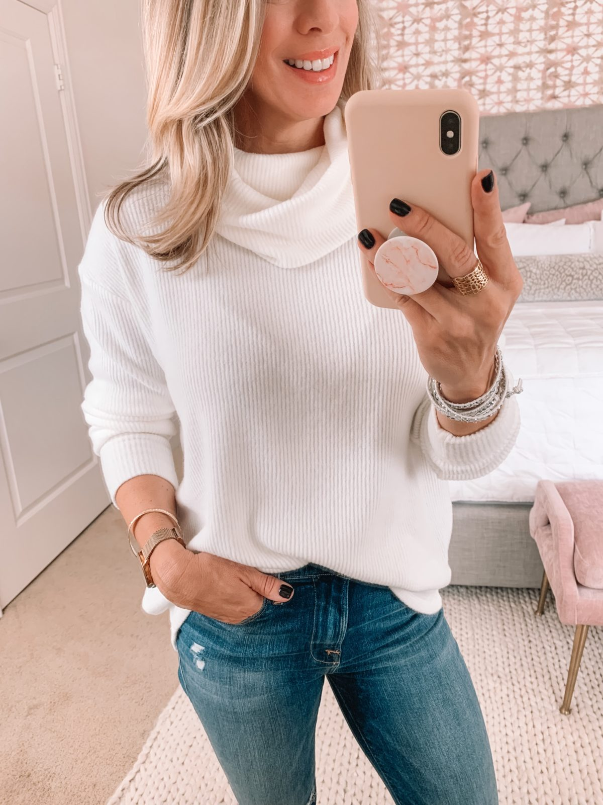 jeans and sweater outfit