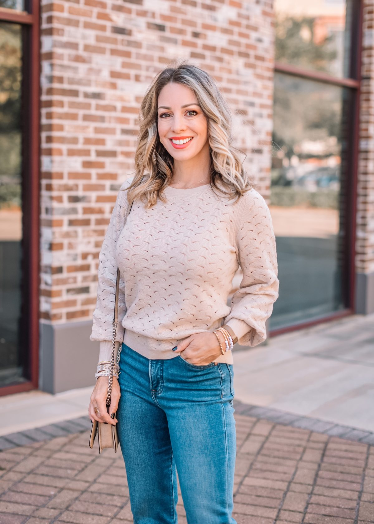 Express Fashion, Pontinelle Sweater, Jeans